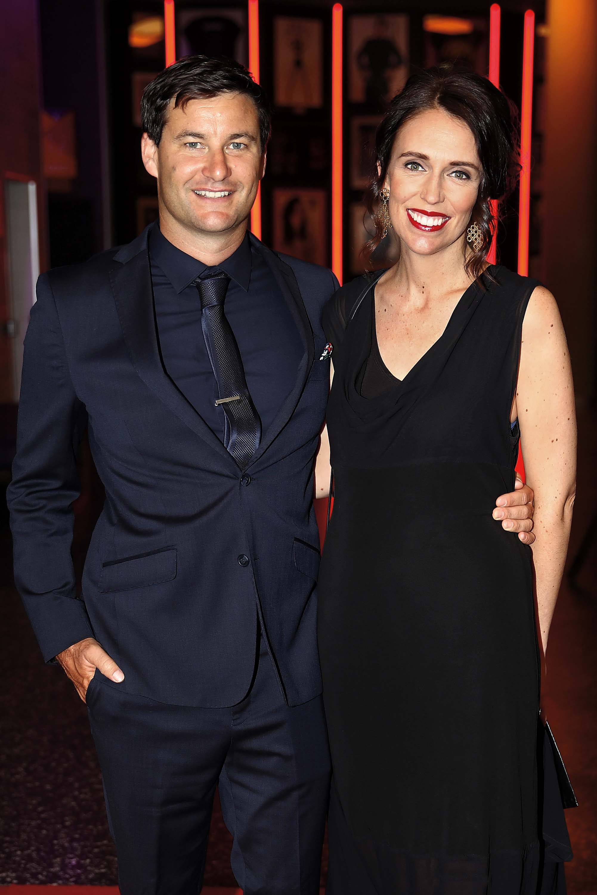 AUCKLAND, NEW ZEALAND - FEBRUARY 08:  Prime Minister Jacinda Ardern and partner Clarke Gayford arrive ahead of the 55th Halberg Awards at Spark Arena on February 8, 2018 in Auckland, New Zealand.  (Photo by Phil Walter/Getty Images)