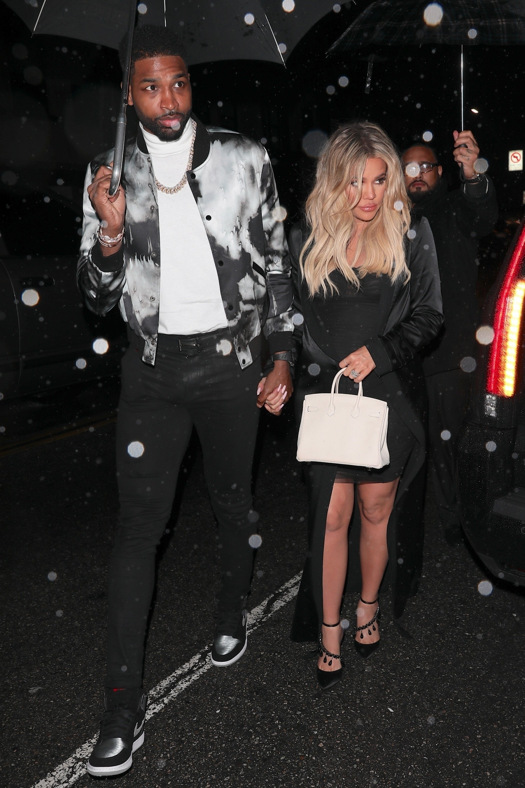 Hollywood, CA  - Stars arrive at Tristan Thompson's early 27th birthday celebration at Beauty & Essex in Hollywood after Khloe Kardashian's baby shower in Bel Air.  Pictured: Tristan Thompson, Khloe Kardashian  BACKGRID USA 10 MARCH 2018, Image: 365737175, License: Rights-managed, Restrictions: , Model Release: no, Credit line: Profimedia, AKM-GSI