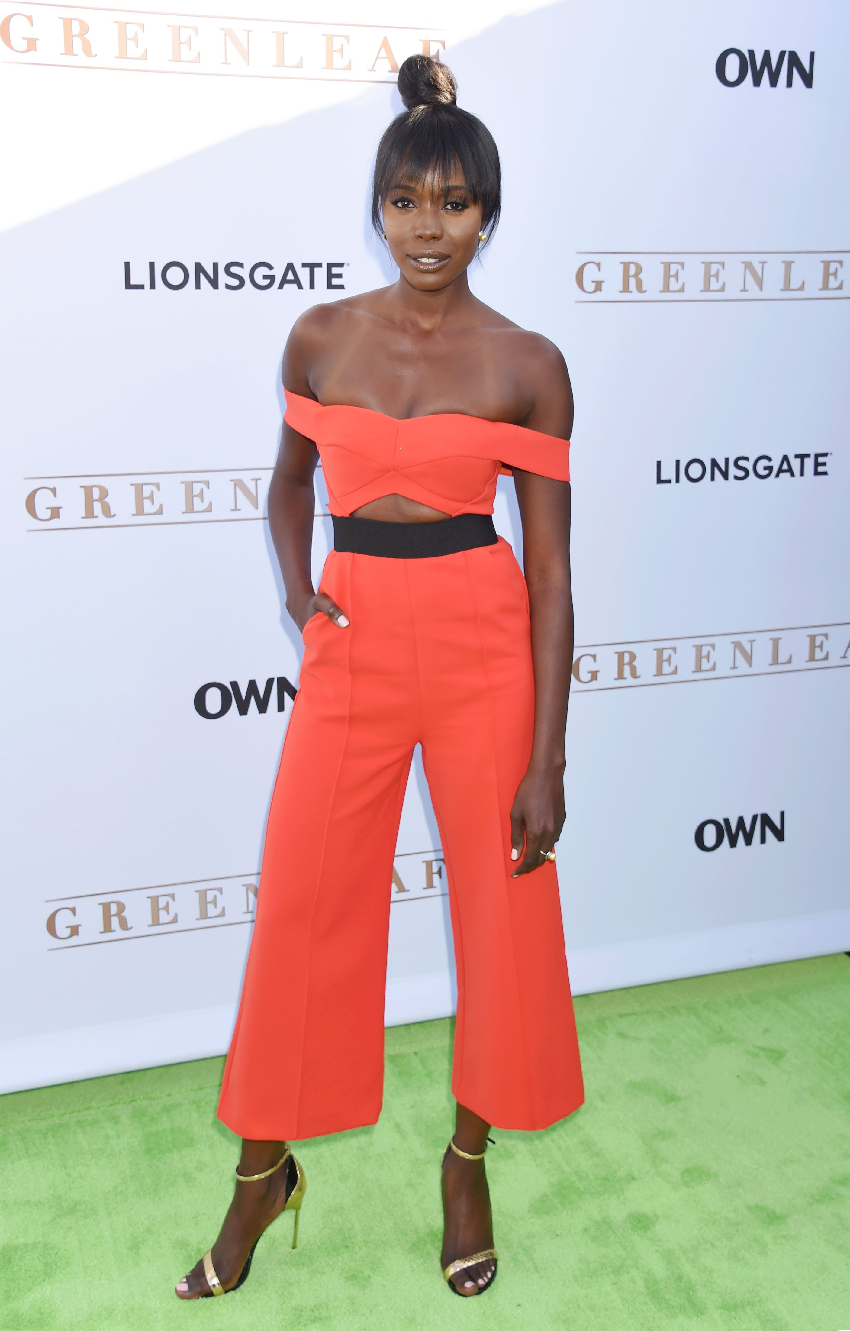WEST HOLLYWOOD, CA - JUNE 15: Actress Anna Diop arrives at the premiere of OWN's 'Greenleaf' at The Lot on June 15, 2016 in West Hollywood, California., Image: 292181072, License: Rights-managed, Restrictions: , Model Release: no, Credit line: Profimedia, Capital pictures