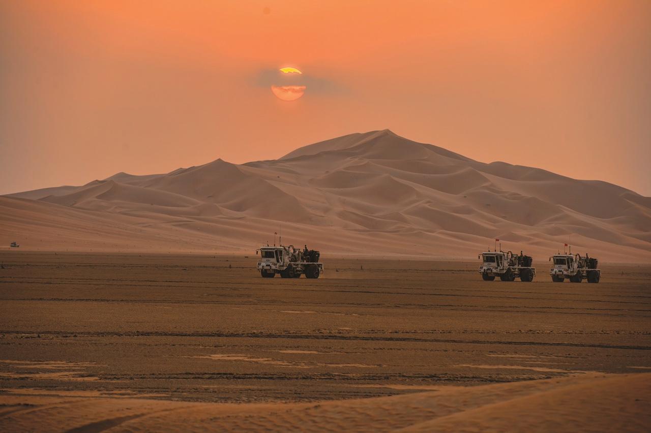 Kamioni tvrtke Saudi Aramco