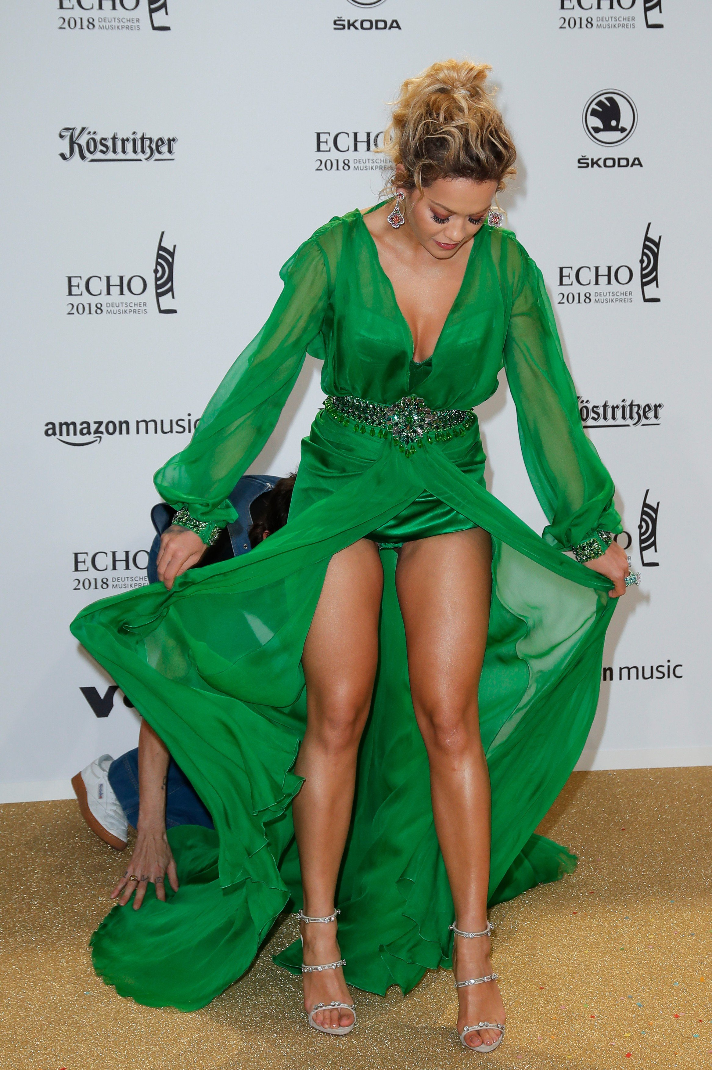 Rita Ora Echo Music Awards 2018 at the Messe Berlin, Berlin, Germany - 12 Apr 2018, Image: 368404102, License: Rights-managed, Restrictions: , Model Release: no, Credit line: Profimedia, TEMP Rex Features