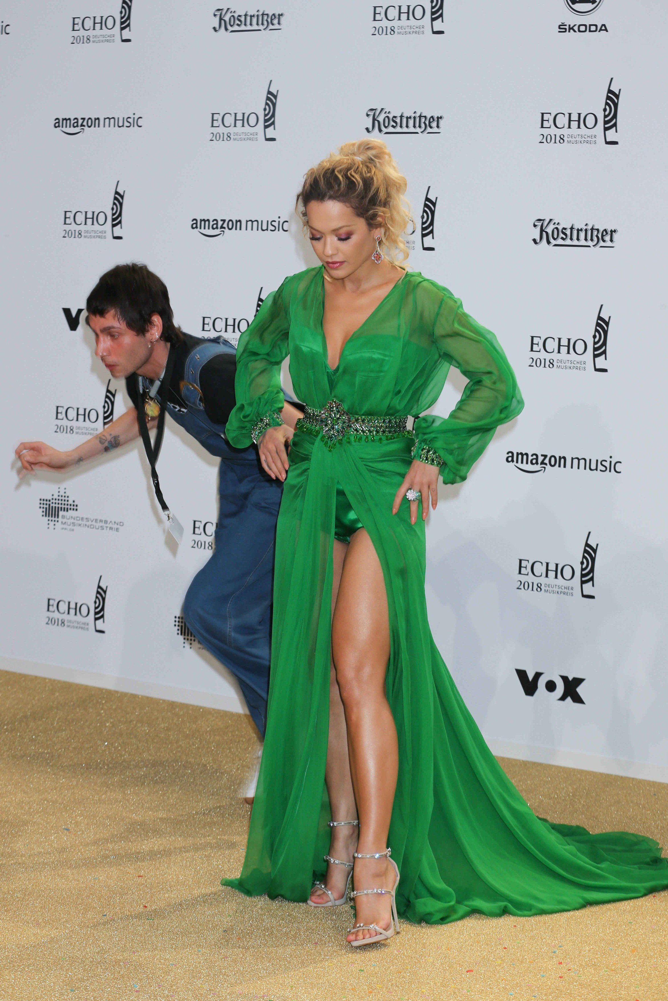 Rita Ora Echo Music Awards 2018 at the Messe Berlin, Arrivals, Berlin, Germany - 12 Apr 2018, Image: 368415991, License: Rights-managed, Restrictions: , Model Release: no, Credit line: Profimedia, TEMP Rex Features
