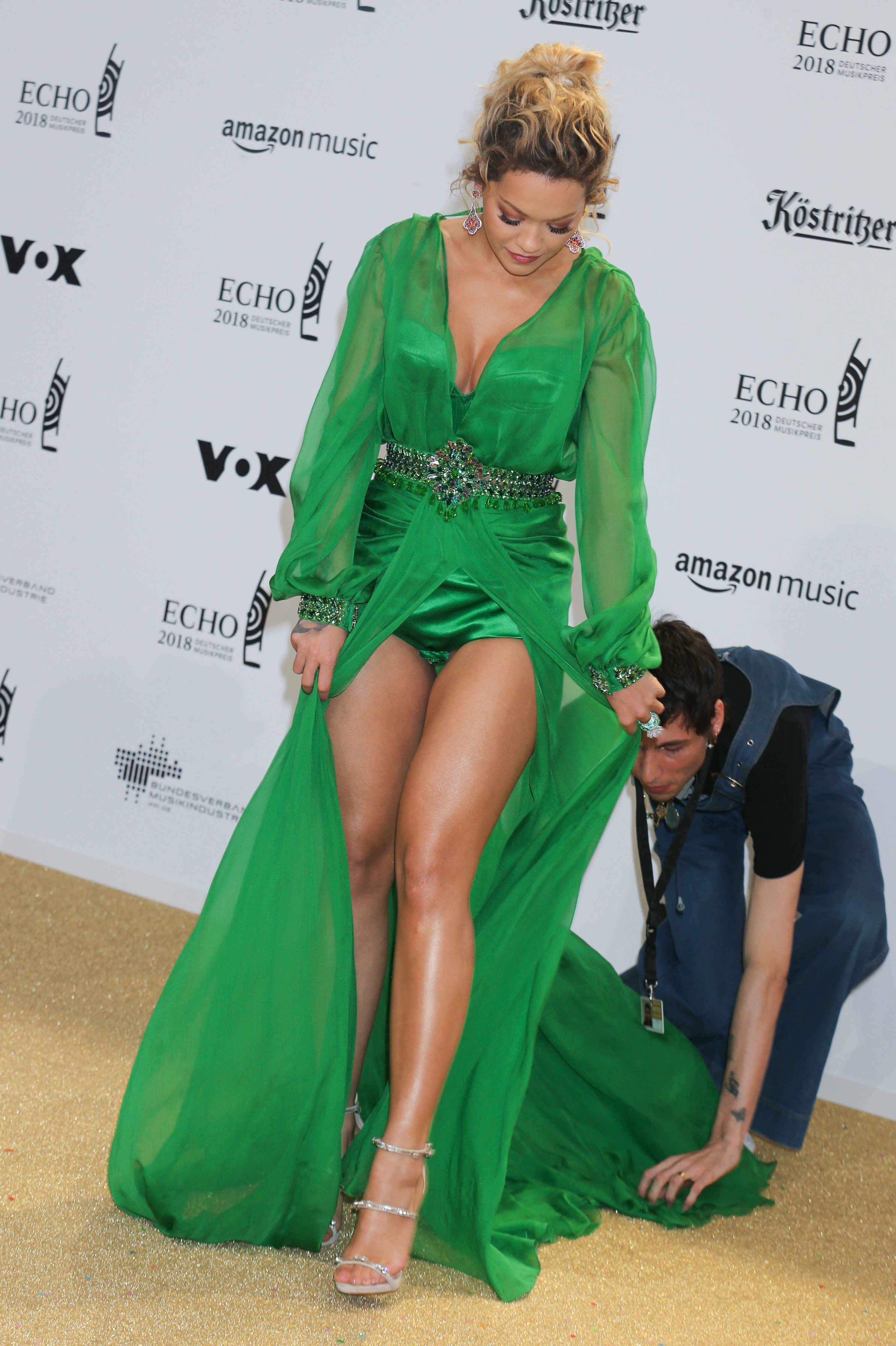Rita Ora Echo Music Awards 2018 at the Messe Berlin, Arrivals, Berlin, Germany - 12 Apr 2018, Image: 368415941, License: Rights-managed, Restrictions: , Model Release: no, Credit line: Profimedia, TEMP Rex Features