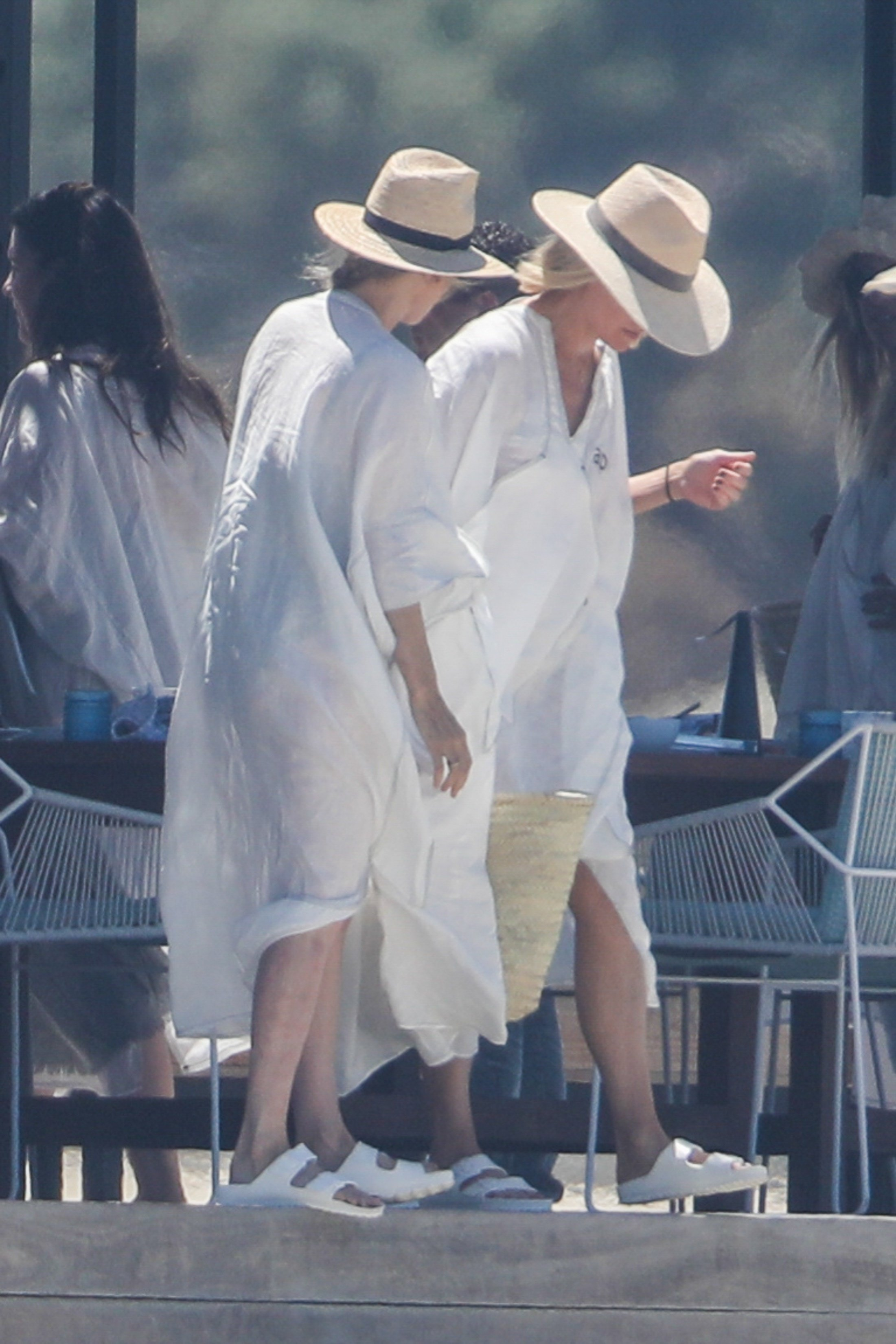 Cabo San Lucas, MEXICO  - *EXCLUSIVE*  - Gwyneth Paltrow is ready for one last fling before the ring! The blonde star Gwyneth Paltrow and good friend, fashion designer Stella McCartney, were spotted sipping on Champagne and soaking up the Sun in Cabo San Lucas with friends during a girls only bachelorette party.  Pictured: Gwyneth Paltrow, Stella McCartney  BACKGRID USA 13 APRIL 2018, Image: 368458750, License: Rights-managed, Restrictions: , Model Release: no, Credit line: Profimedia, AKM-GSI