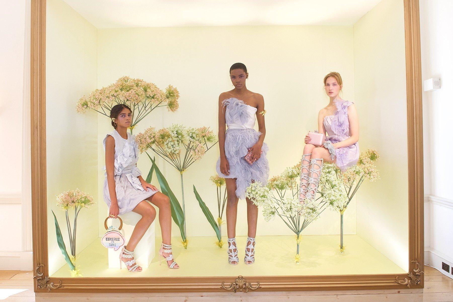 Models Sophia Webster presentation, Spring Summer 2018, London Fashion Week, UK - 18 Sep 2017, Image: 349785208, License: Rights-managed, Restrictions: , Model Release: no, Credit line: Profimedia, TEMP Rex Features