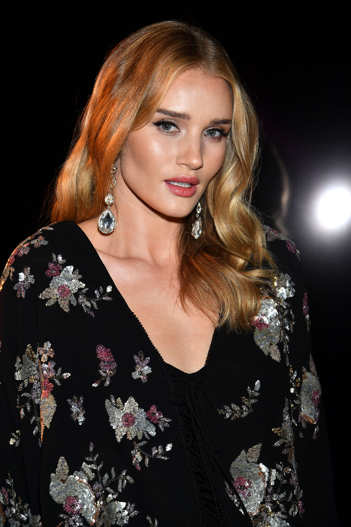 PARIS, FRANCE - FEBRUARY 27:  Rosie Huntington-Whiteley attends the Saint Laurent show as part of the Paris Fashion Week Womenswear Fall/Winter 2018/2019 on February 27, 2018 in Paris, France.  (Photo by Dominique Charriau/WireImage)
