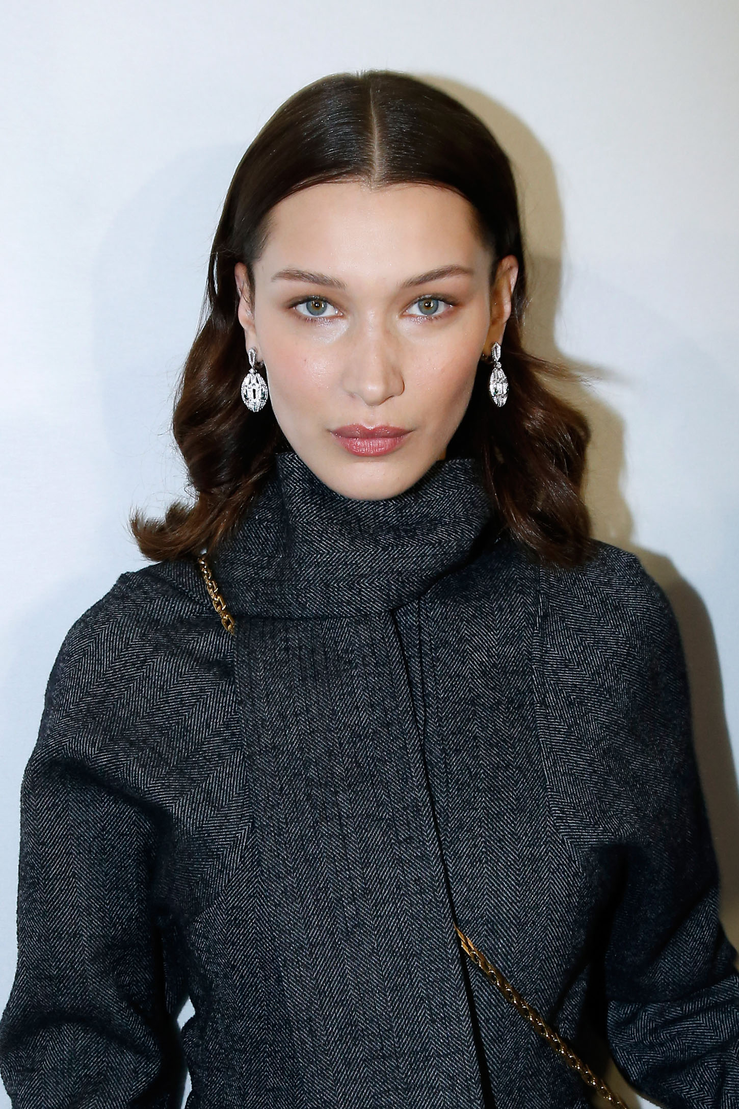 PARIS, FRANCE - MARCH 01:  Model Bella Hadid, wearing Bulgari Jewelry, attends the LVMH Prize 2018 - Designers Presentation on March 1, 2018 in Paris, France.  (Photo by Bertrand Rindoff Petroff/Getty Images)
