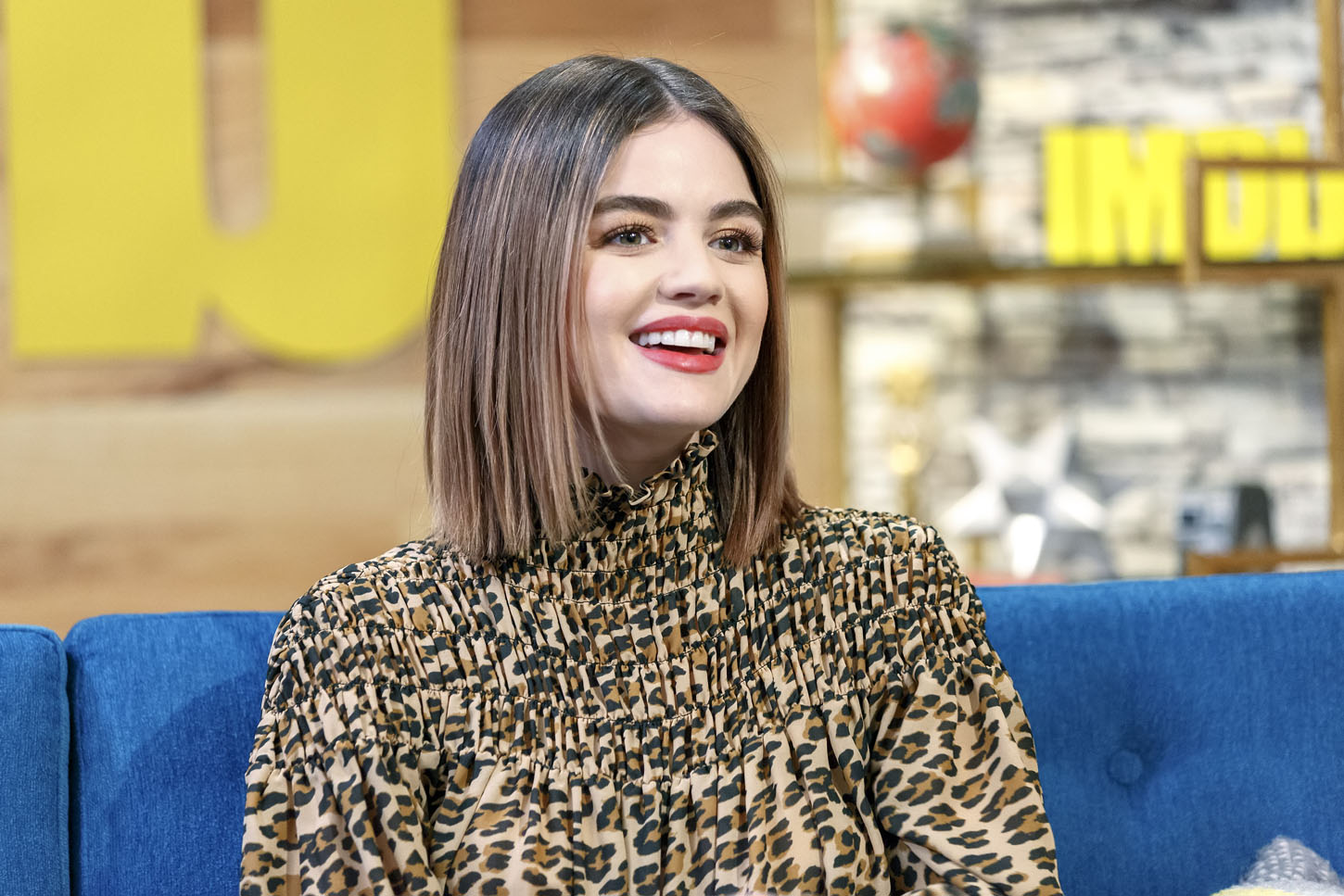 STUDIO CITY, CA - APRIL 03:  Lucy Hale visits 'The IMDb Show' on April 3, 2018 in Studio City, California. This episode of 'The IMDb Show' airs on April 12, 2018.  (Photo by Rich Polk/Getty Images for IMDb)