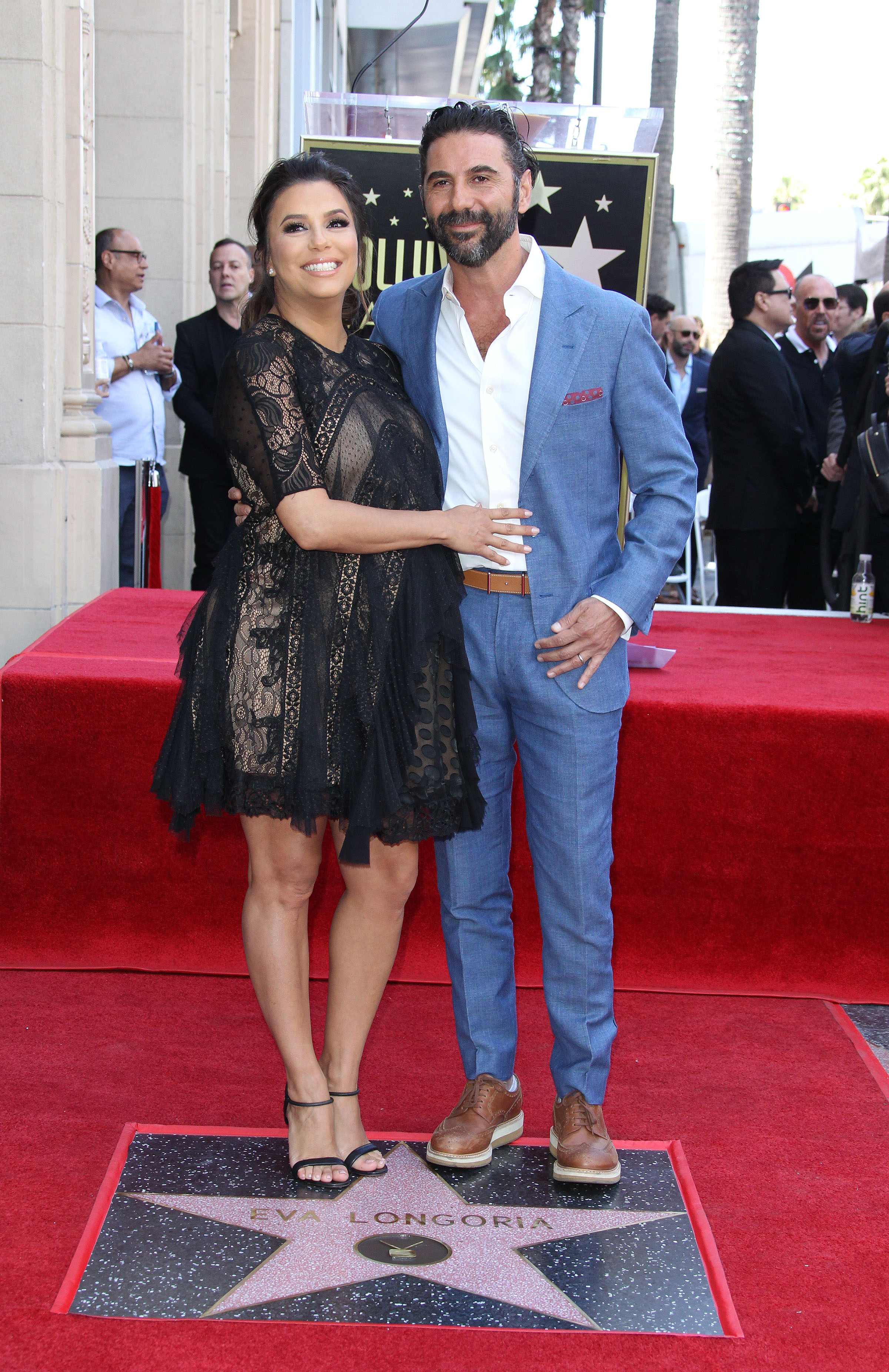 Eva Longoria Honored with a star on the Hollywood Walk of Fame - Los Angeles <P> Pictured: Eva Longoria, Jose Baston <B>Ref: SPL1683828  160418  </B><BR/> Picture by: Jen Lowery / Splash News<BR/> </P><P> <B>Splash News and Pictures</B><BR/> Los Angeles:	310-821-2666<BR/> New York:	212-619-2666<BR/> London:	870-934-2666<BR/> <span id=