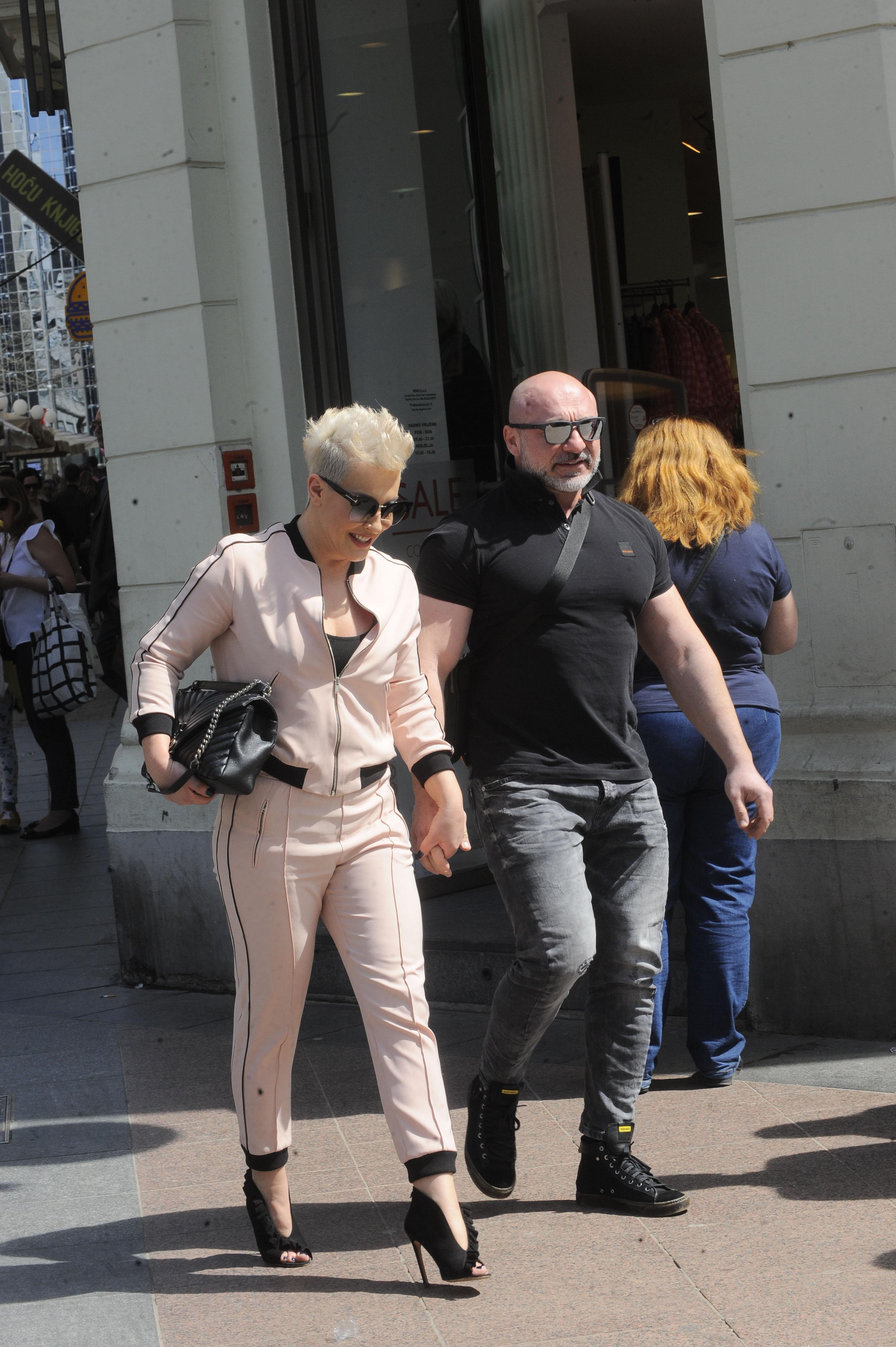 Spica / Zagreb 14.04.2018. / foto. Davor Matota / Indira Levak ex Vladic i suprug Miroslav Levak