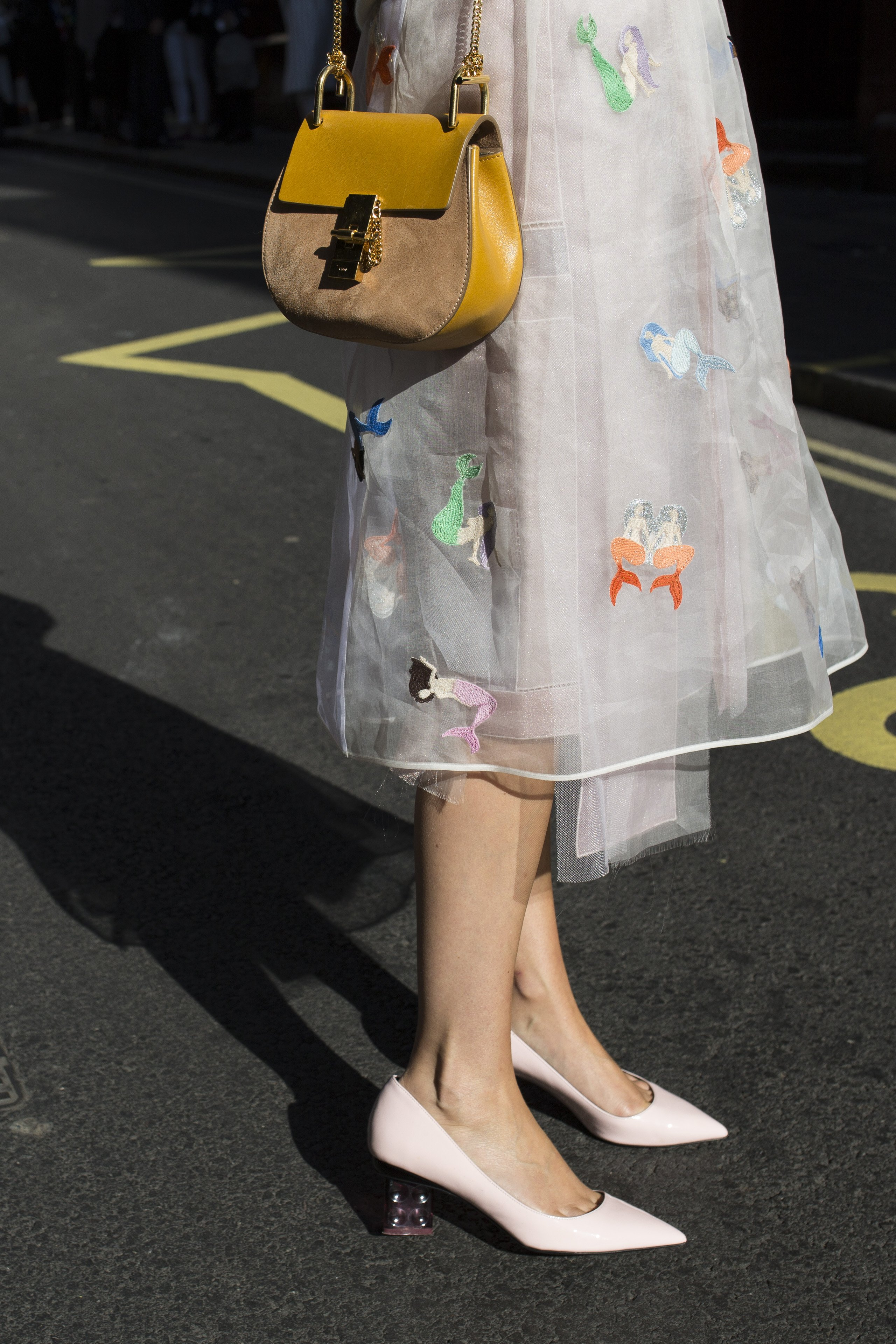 Martha Ward attending London Fashion Week SS16, London, held at the Brewer Street Carpark in Soho.  She wears an Alex Lewis skirt, Nicholas Kirkwood shoes, Zan Zan sunglasses with a Chloe bag., Image: 259265710, License: Rights-managed, Restrictions: NONE, Model Release: no, Credit line: Profimedia, Press Association