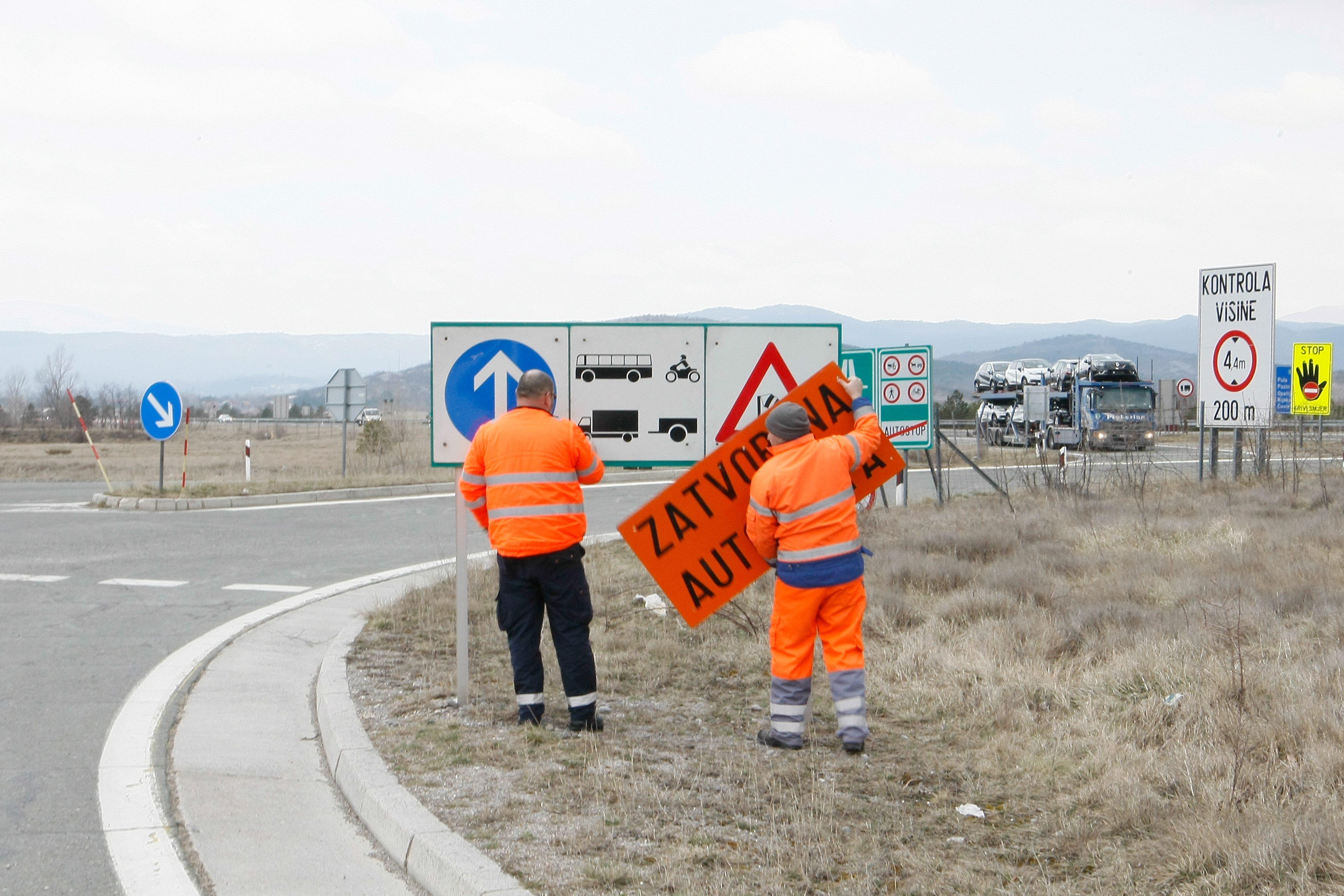 Ilustracija, zatvaranje autoceste