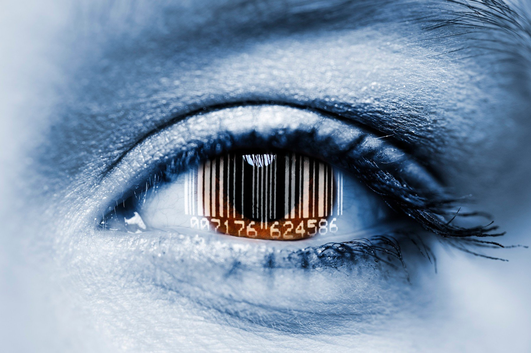 Biometrijsko skeniranje oka, ilustracija