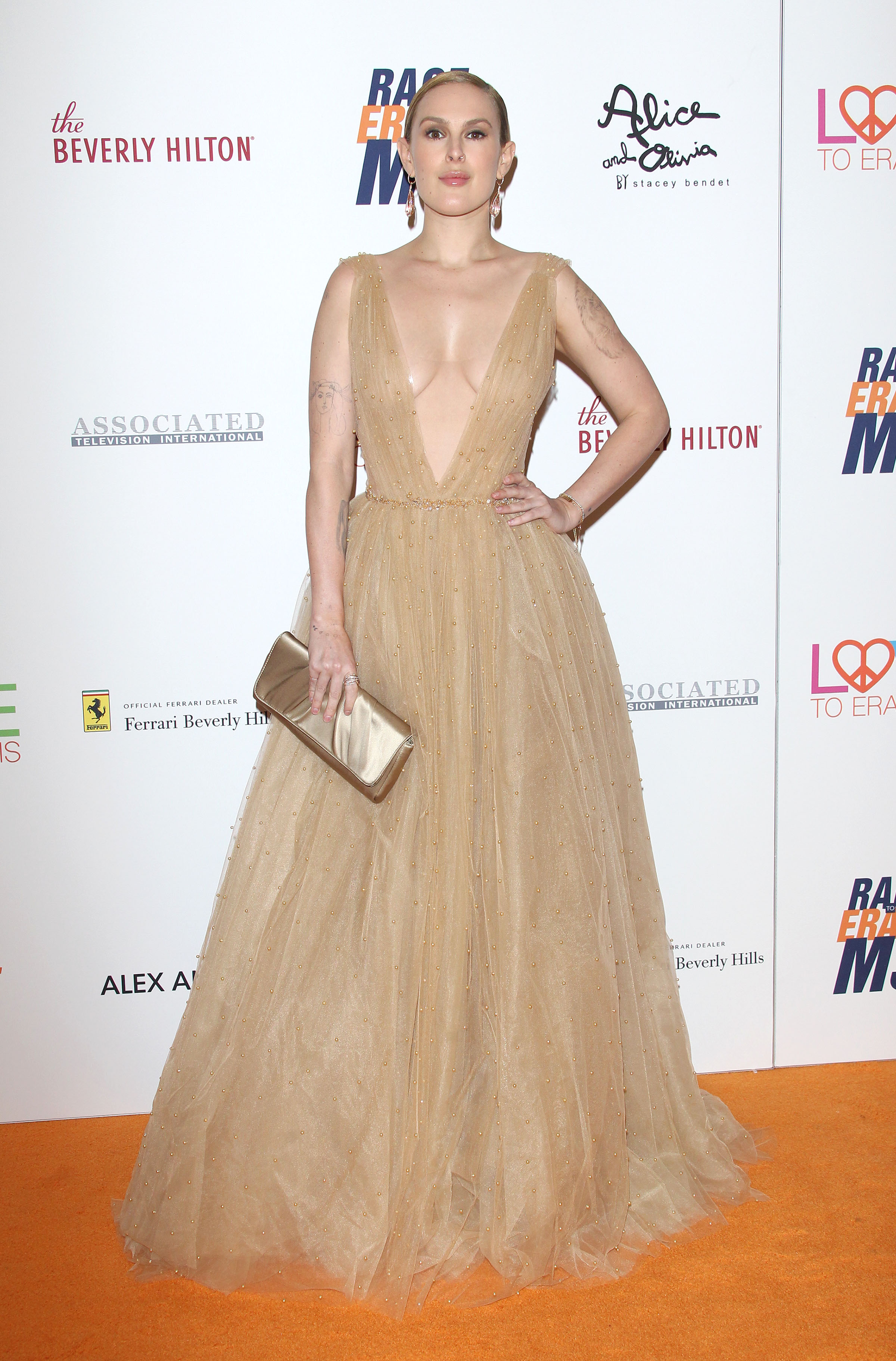 25th Annual Race to Erase MS Gala - Beverly Hills <P> Pictured: Rumer Willis <B>Ref: SPL1685392  200418  </B><BR/> Picture by: Jen Lowery / Splash News<BR/> </P><P> <B>Splash News and Pictures</B><BR/> Los Angeles:310-821-2666<BR/> New York:212-619-2666<BR/> London:870-934-2666<BR/> <span id=