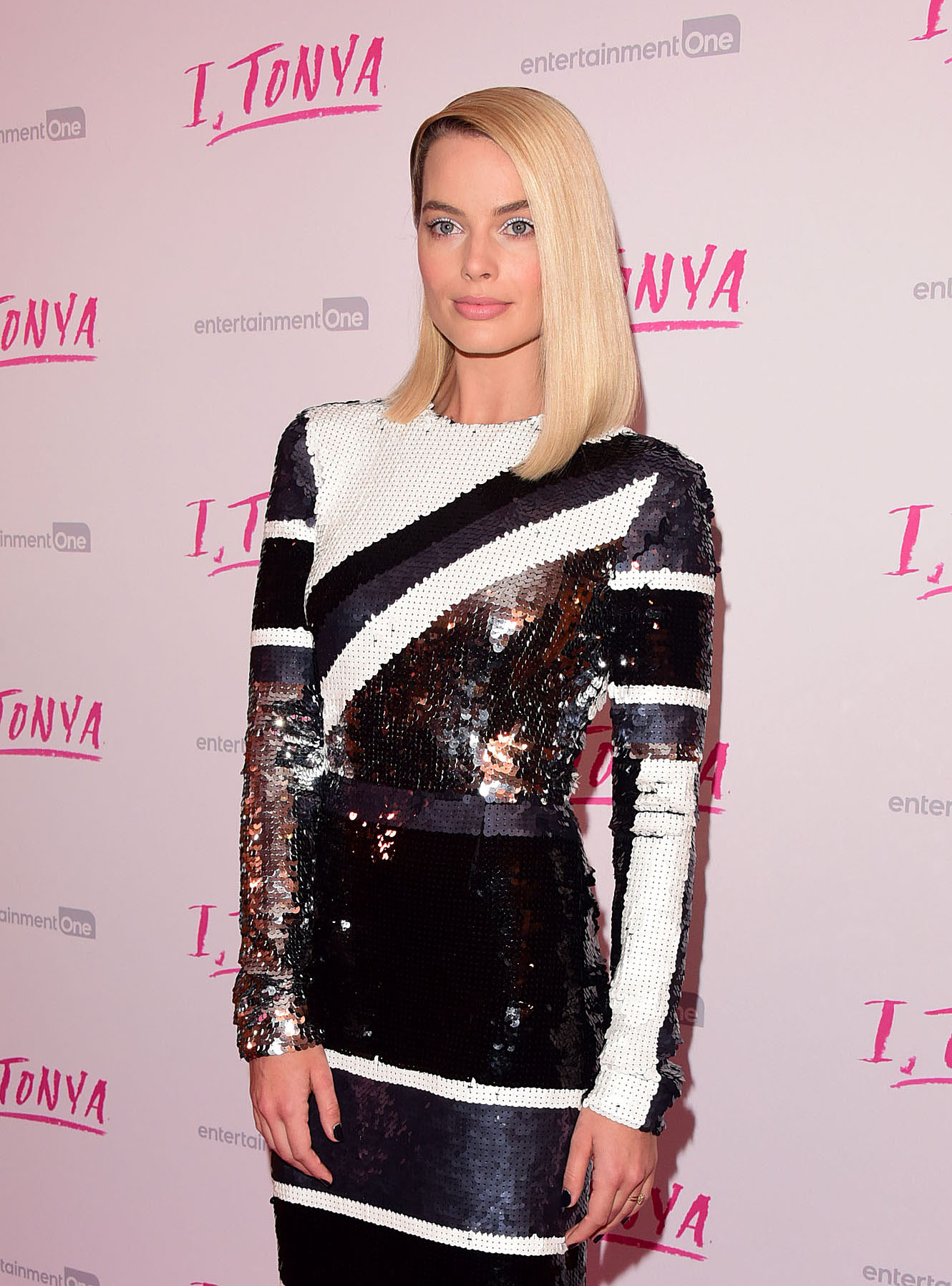 Celebrities arriving at the UK premiere of 'I, TONYA' at the Curzon Mayfair.  <P> Pictured: Margot Robbie <B>Ref: SPL1660390  160218  </B><BR/> Picture by: Splash News<BR/> </P><P> <B>Splash News and Pictures</B><BR/> Los Angeles:310-821-2666<BR/> New York:212-619-2666<BR/> London:870-934-2666<BR/> <span id=