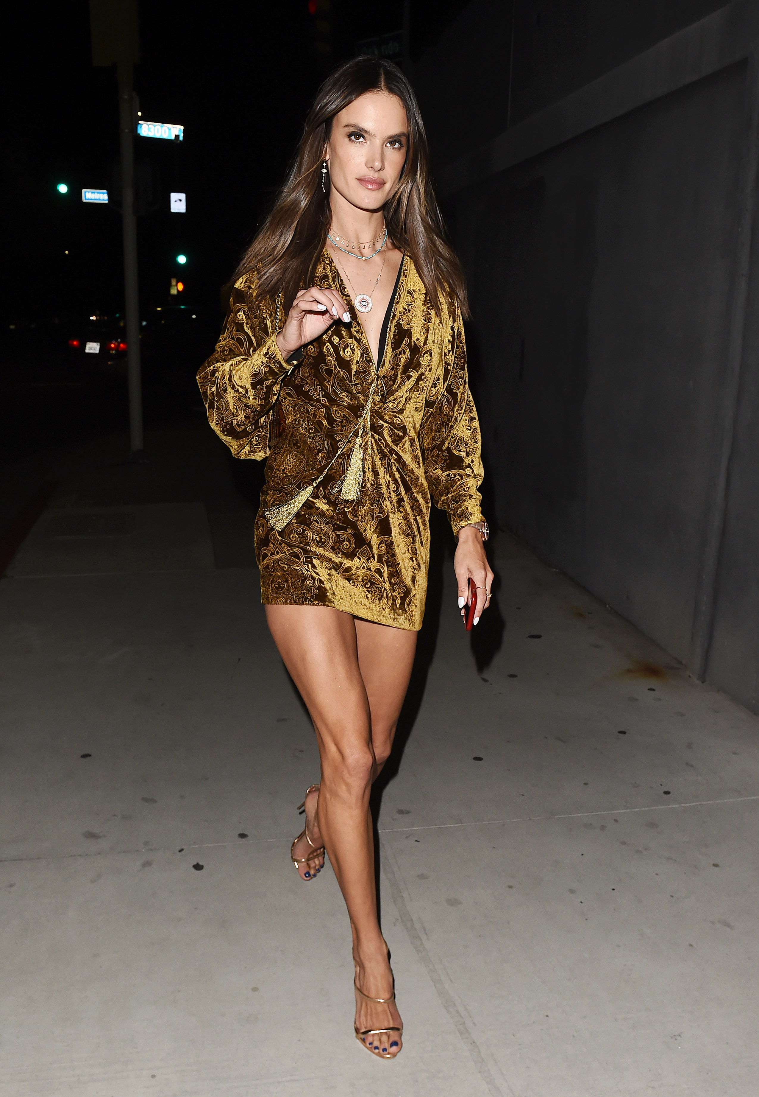 Alessandra Ambrosio Leaving DUNDAS Traveling Flagship cocktail party in Los Angeles <P> Pictured: Alessandra Ambrosio <B>Ref: SPL1687421  240418  </B><BR/> Picture by: SAF / Splash News<BR/> </P><P> <B>Splash News and Pictures</B><BR/> Los Angeles:310-821-2666<BR/> New York:212-619-2666<BR/> London:870-934-2666<BR/> <span id=