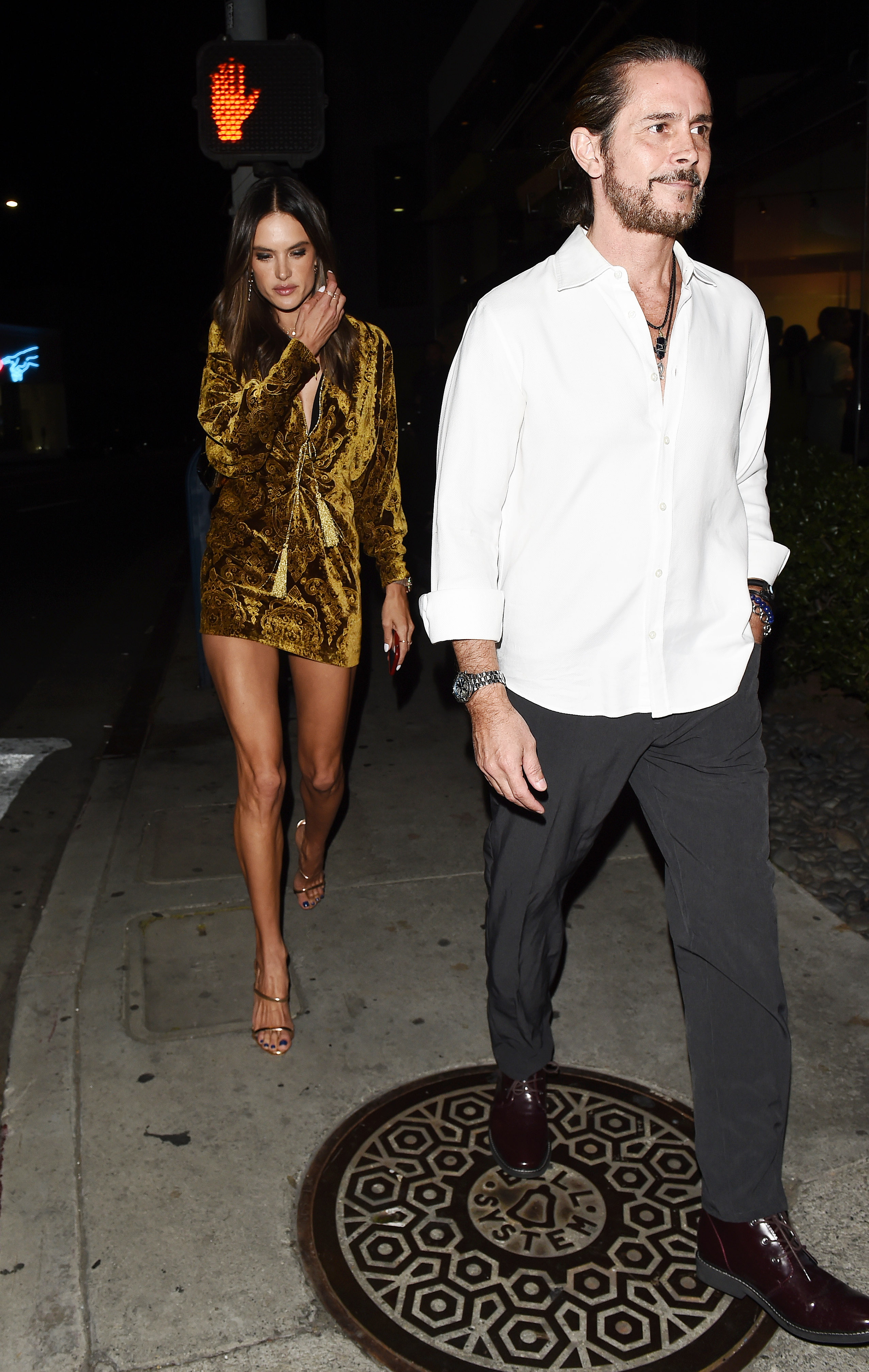 Alessandra Ambrosio Leaving DUNDAS Traveling Flagship cocktail party in Los Angeles <P> Pictured: Alessandra Ambrosio and Mystery Man <B>Ref: SPL1687421  240418  </B><BR/> Picture by: SAF / Splash News<BR/> </P><P> <B>Splash News and Pictures</B><BR/> Los Angeles:310-821-2666<BR/> New York:212-619-2666<BR/> London:870-934-2666<BR/> <span id=