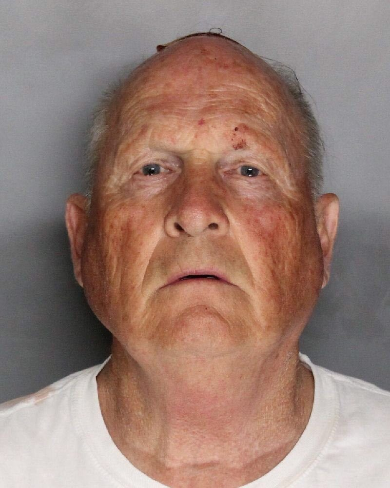 Joseph James Deangelo, 72 appears in a booking photo provided by the Sacramento County Sheriff's Department, April 25, 2018.   Sacramento County Sheriff's Department/Handout via REUTERS    ATTENTION EDITORS - THIS IMAGE WAS PROVIDED BY A THIRD PARTY.