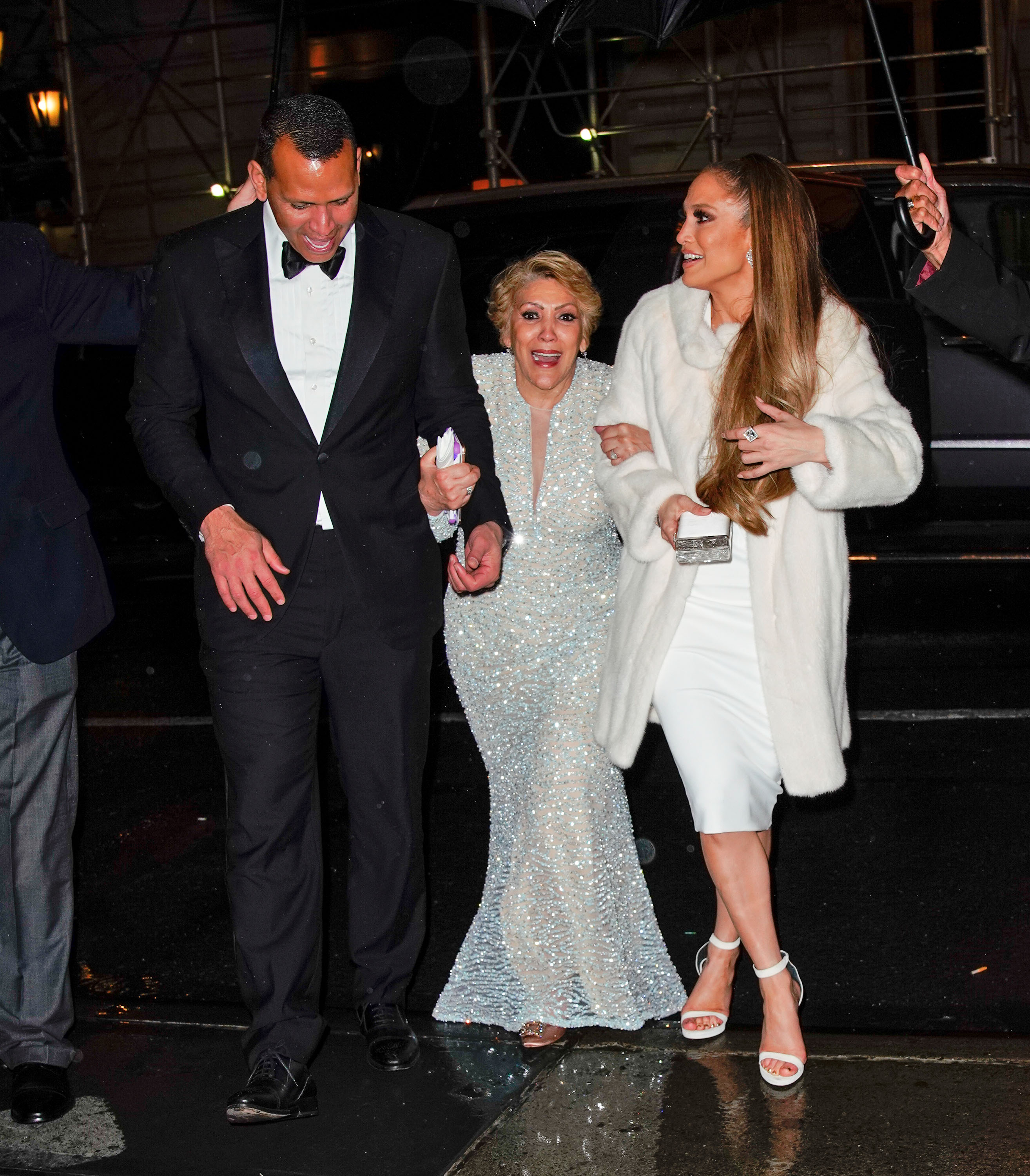 Jennifer Lopez, Alex Rodriguez, and Jennifer's mother Guadalupe head to the Time 100 Afterparty arm-in-arm in New York <P> Pictured: Jennifer Lopez, Alex Rodriguez, Guadalupe Rodriguez <B>Ref: SPL1687585  250418  </B><BR/> Picture by: Jackson Lee / Splash News<BR/> </P><P> <B>Splash News and Pictures</B><BR/> Los Angeles:310-821-2666<BR/> New York:212-619-2666<BR/> London:870-934-2666<BR/> <span id=