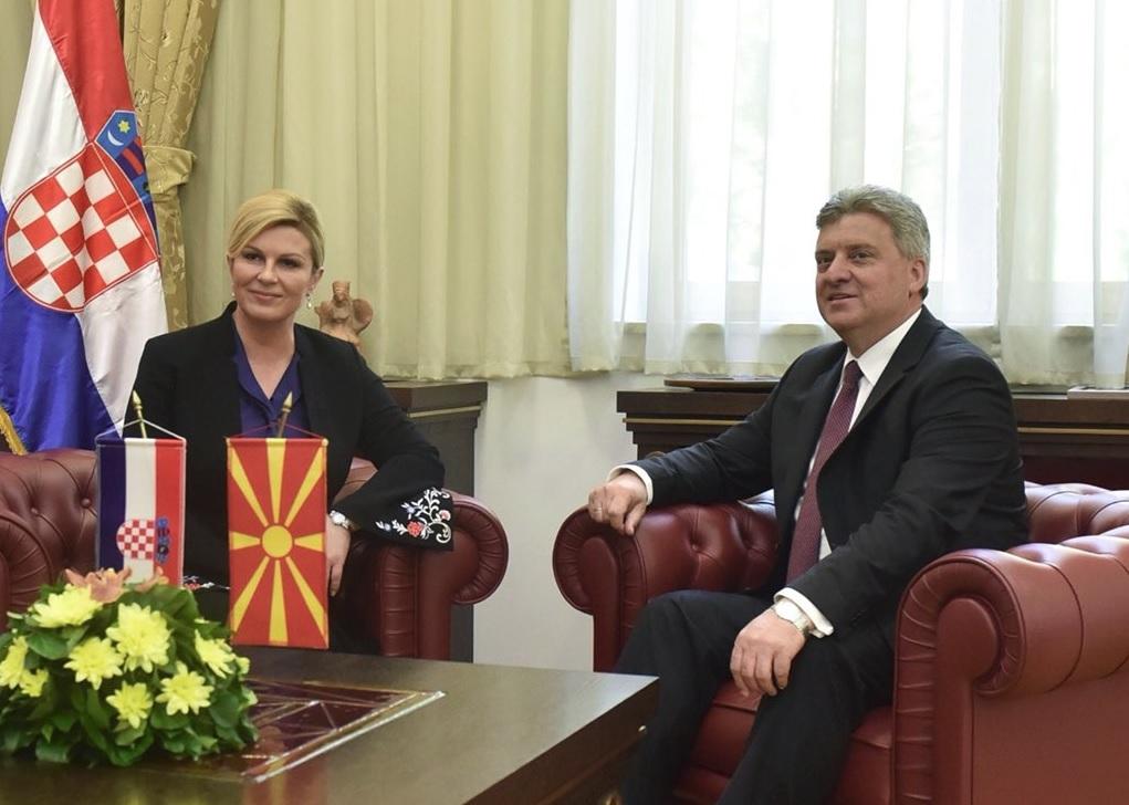 Kolinda Grabar-Kitarović i Gjorge Ivanov