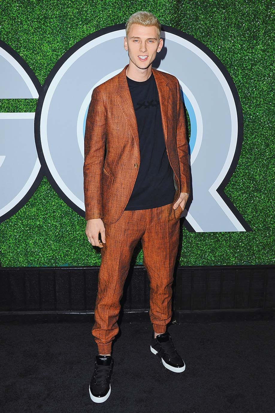 LOS ANGELES, CA - DECEMBER 07:  Machine Gun Kelly attends the 2017 GQ Men Of The Year Party at Chateau Marmont on December 7, 2017 in Los Angeles, California.  (Photo by Jon Kopaloff/FilmMagic)
