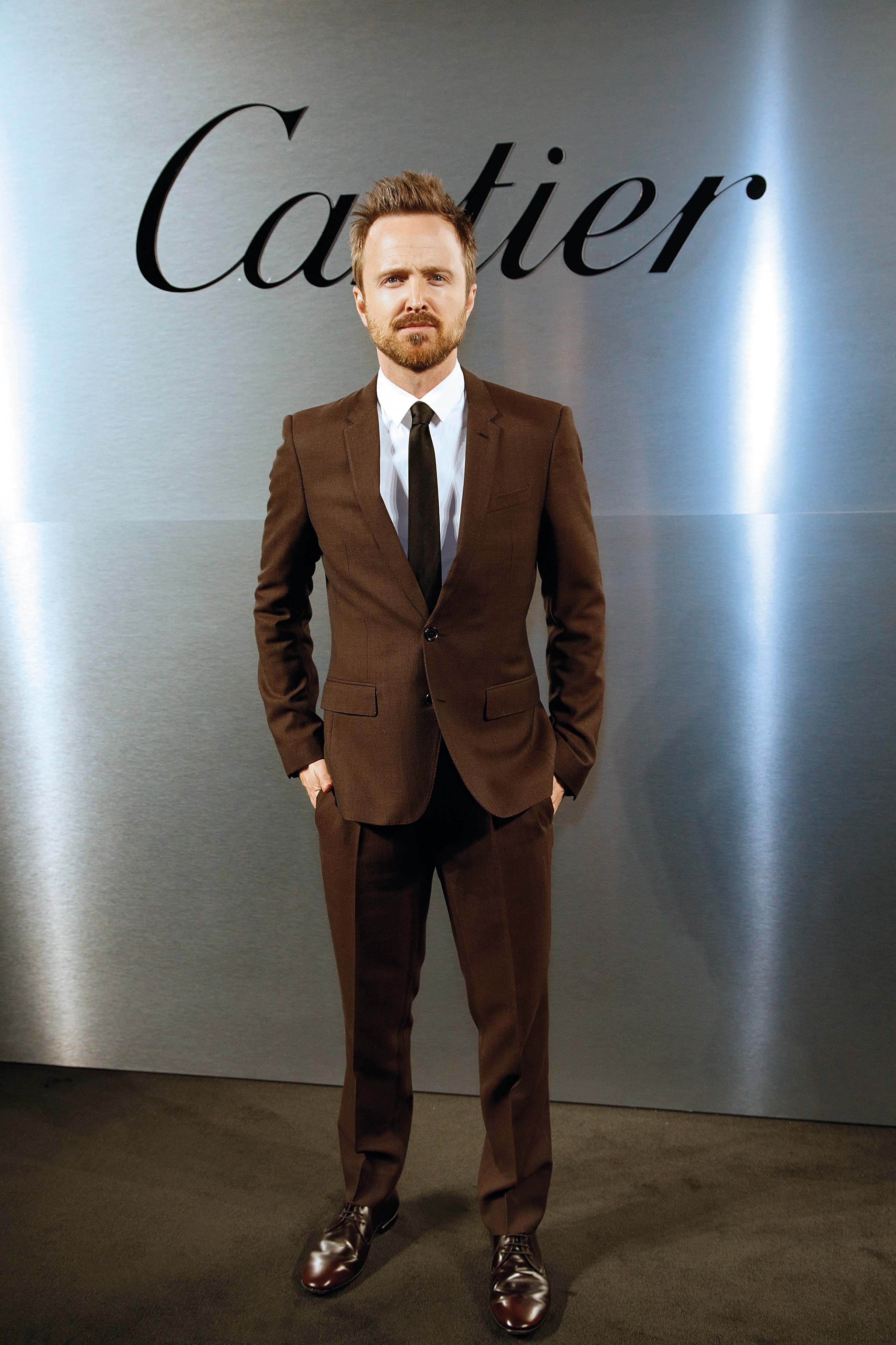 SAN FRANCISCO, CA - APRIL 05:  Aaron Paul attends Cartier celebration of the launch of Santos de Cartier Watch at Pier 48 on April 5, 2018 in San Francisco, California.  (Photo by Kimberly White/Getty Images for Cartier)