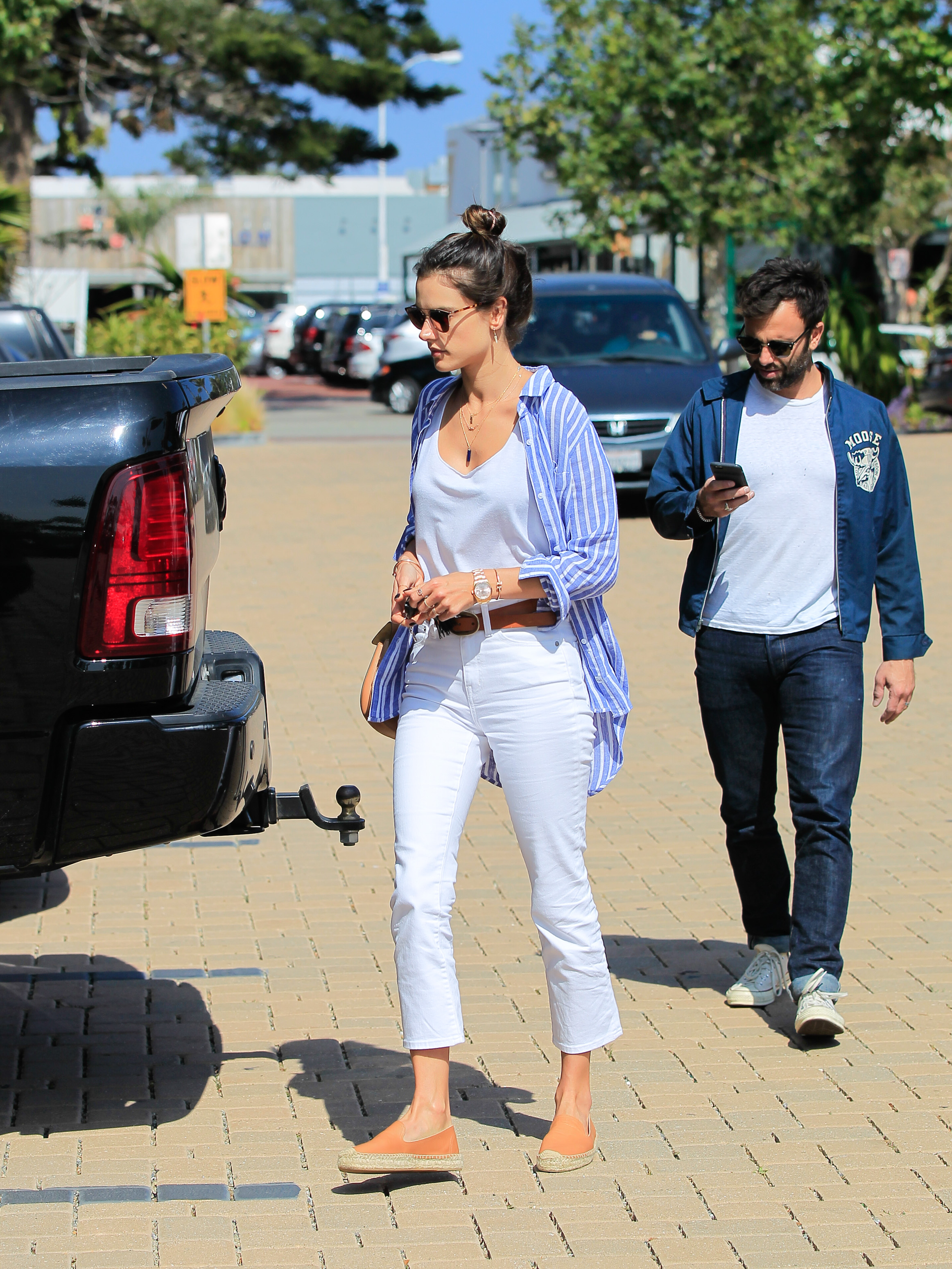 Alessandra Ambrosio and Jamie Mazur are seen in Los Angeles, California. <P> Pictured: Alessandra Ambrosio, Jamie Mazur <B>Ref: SPL1282779  140516  </B><BR/> Picture by: Bauer-Griffin/Bauergriffin.com<BR/> </P><P>
