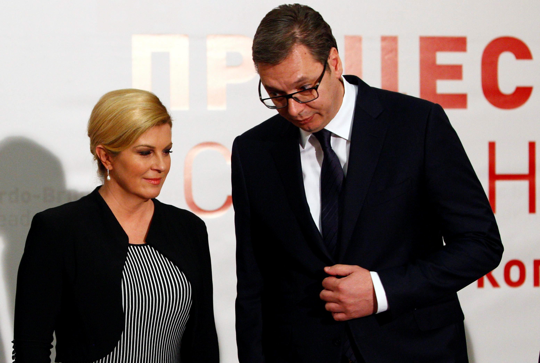 Kolinda Grabar Kitarović i Aleksandar Vučić