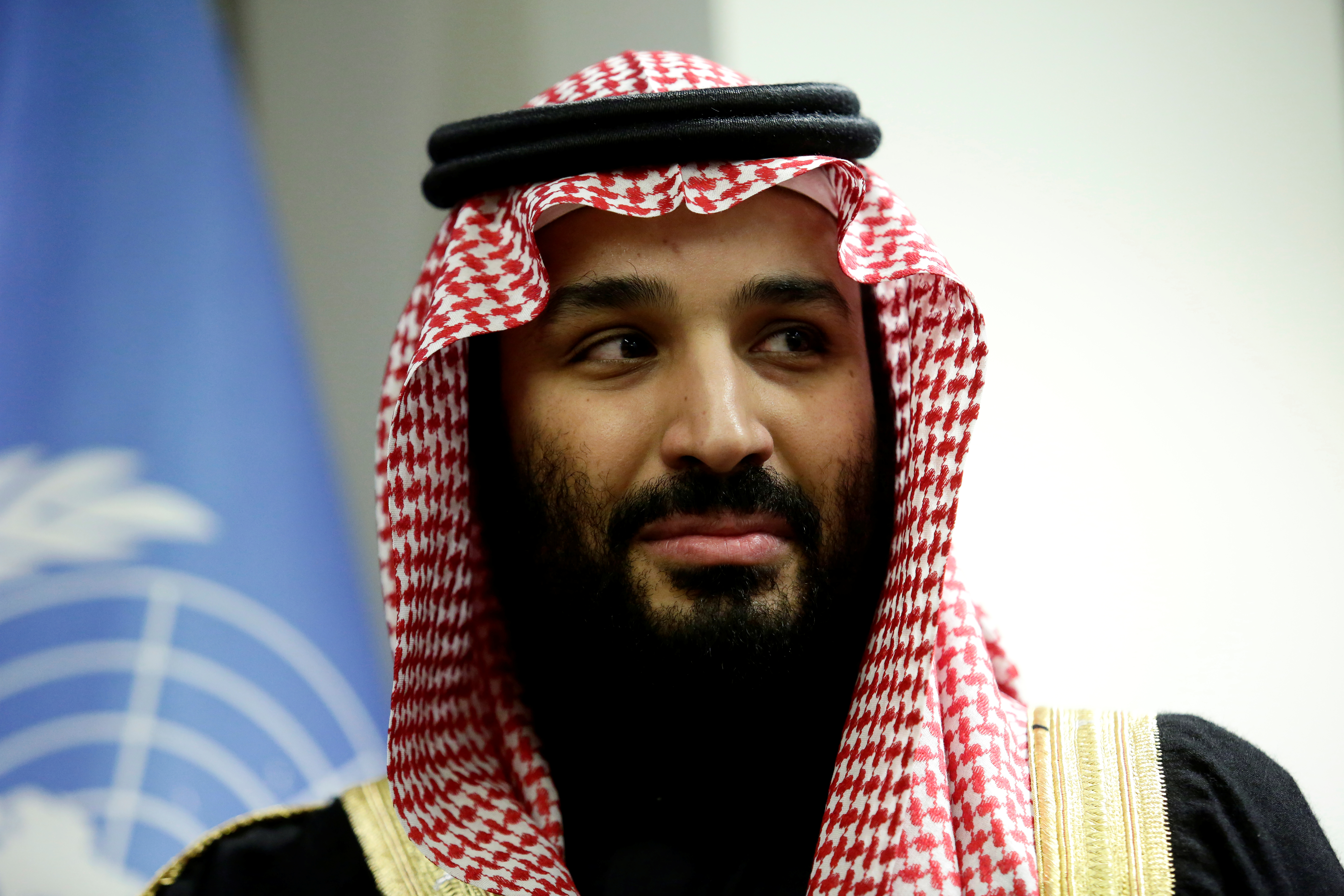 Saudi Arabia's Crown Prince Mohammed bin Salman Al Saud is seen during a meeting with U.N Secretary-General Antonio Guterres at the United Nations headquarters in the Manhattan borough of New York City, New York, U.S. March 27, 2018. REUTERS/Amir Levy - RC1F7FFF07C0