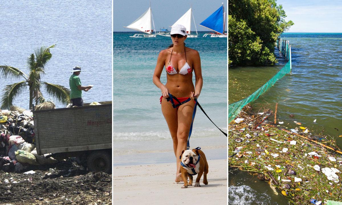 Lijevo i desno: Otok kako izgleda danas, u sredini: Boracay kakav pamte brojni turisti
