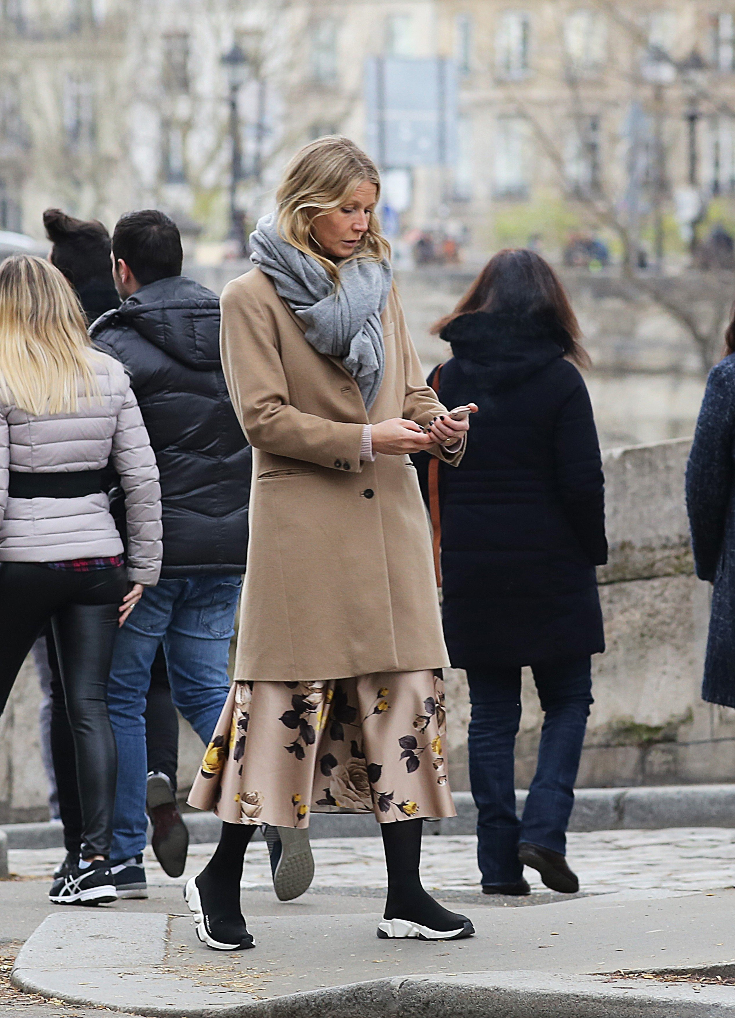EXCLUSIVE: *NO WEB UNTIL 2200 GMT 4TH APRIL* Coldplay singer, Chris Martin and US Actress Gwyneth Paltrow spend easter weekend in Paris with their kids. The couple were seen walking along the banks of the Seine river in the French capital and in ST Germain des prés. Paris. The couple looked stylish for the outing as they indulged in conversation. 01 Apr 2018, Image: 367652562, License: Rights-managed, Restrictions: NO Andorra, Argentina, Austria, Belgium, Bolivia, Chile, China, Costa Rica, Croatia, Czech Republic, El Salvador, Estonia, Finland, France, French Guiana, French Polynesia, French Southern Ter, Greece, Guadeloupe, Guatemala, Honduras, Hungary, Japan, Latvia, Lithuania, Macedonia, Mexico, Monaco, Netherlands, Paraguay, Peru, Poland, Portugal, Puerto Rico, Romania, Russia, South Africa, Spain, Sweden, Switzerland, Taiwan, Uruguay, Venezuela, Model Release: no, Credit line: Profimedia, Mega Agency