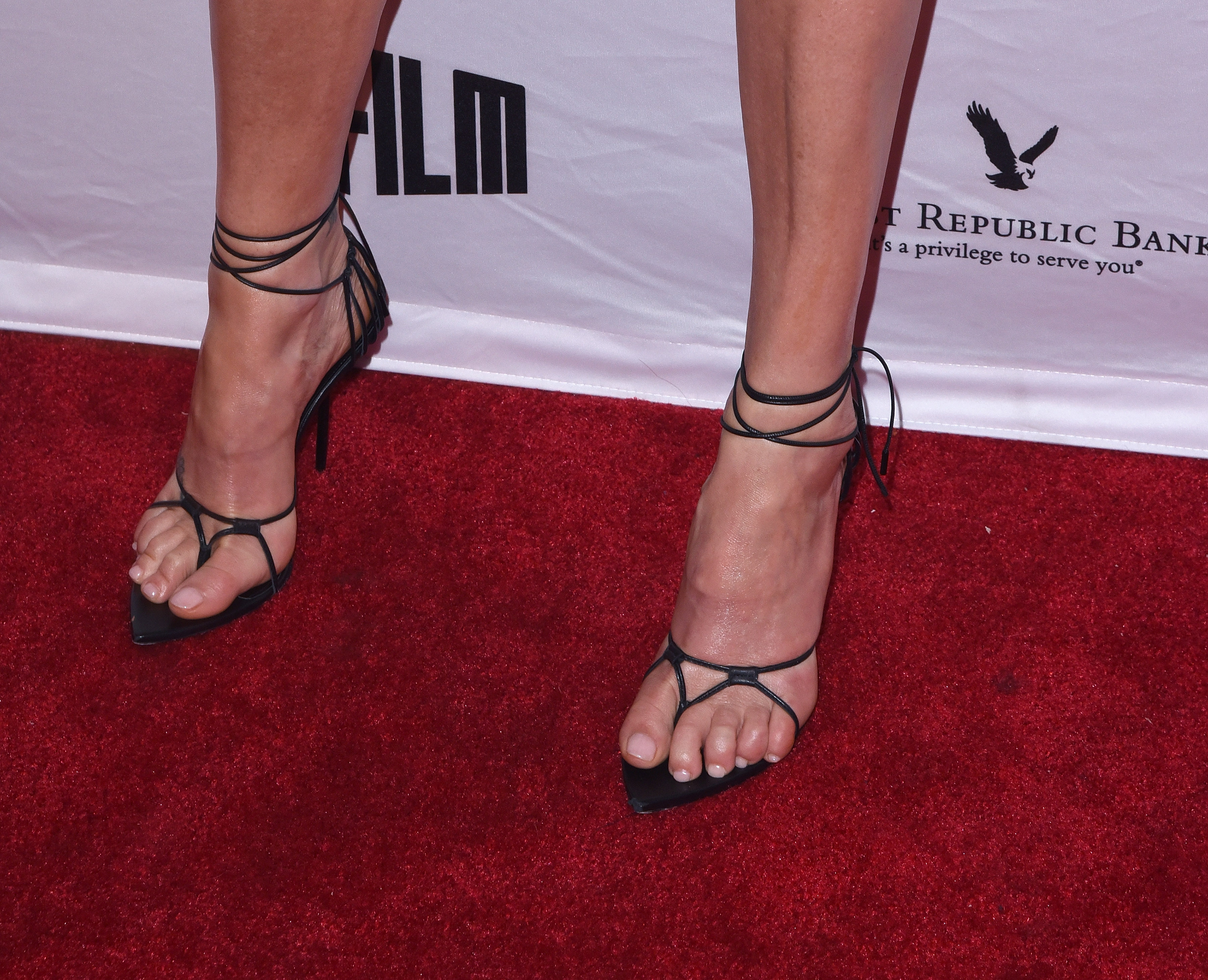 SAN FRANCISCO, CA - APRIL 08:  Charlize Theron, shoe detail, attends the A Tribute To Charlize Theron: