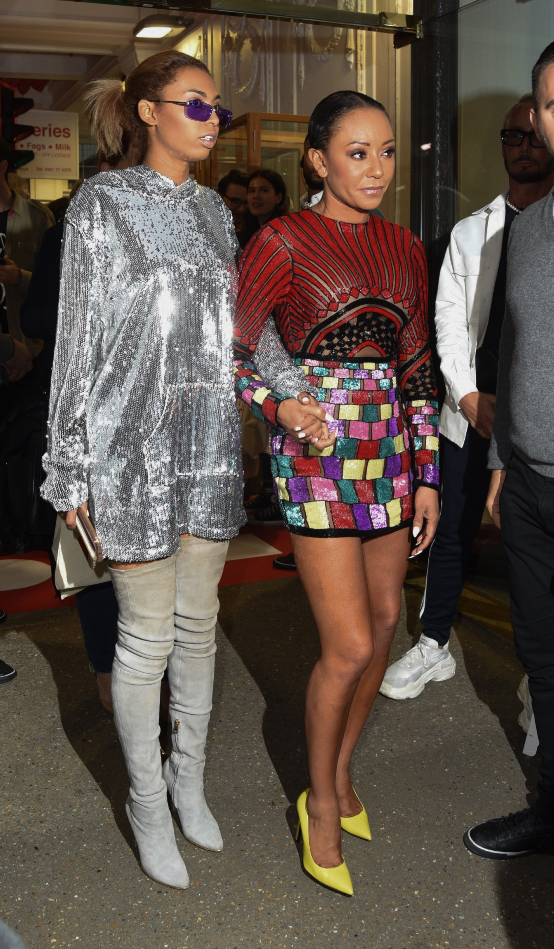 Stars Arrive At The Hello Magazine 30th Birthday Celebration In London <P> Pictured: Phoenix Gulzar, Mel B <B>Ref: SPL1694861  100518  </B><BR/> Picture by: Flynet - Splash News<BR/> </P><P> <B>Splash News and Pictures</B><BR/> Los Angeles:	310-821-2666<BR/> New York:	212-619-2666<BR/> London:	870-934-2666<BR/> <span id=
