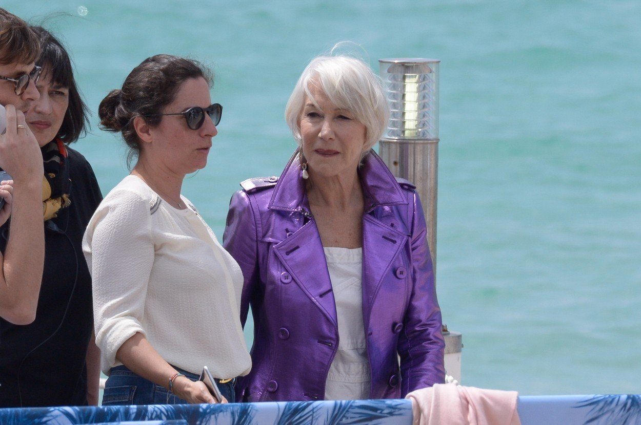 EXCLUSIVE - Helen Mirren falls down after an interview on Martinez beach ahead of the 71st Cannes Film Festival in Cannes, France, on May 12, 2018., Image: 371409175, License: Rights-managed, Restrictions: , Model Release: no, Credit line: Profimedia, Abaca