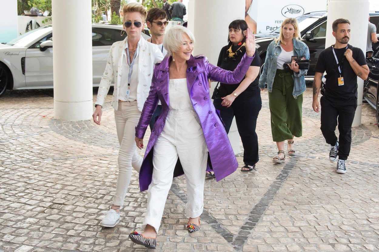 Helen Mirren arriving at Martinez hotel during the 71st annual Cannes Film Festival on May 12, 2018 in Cannes, France., Image: 371409799, License: Rights-managed, Restrictions: , Model Release: no, Credit line: Profimedia, Abaca