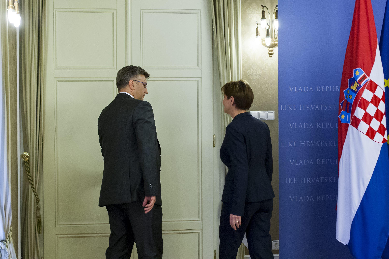 Andrej Plenković i Martina Dalić