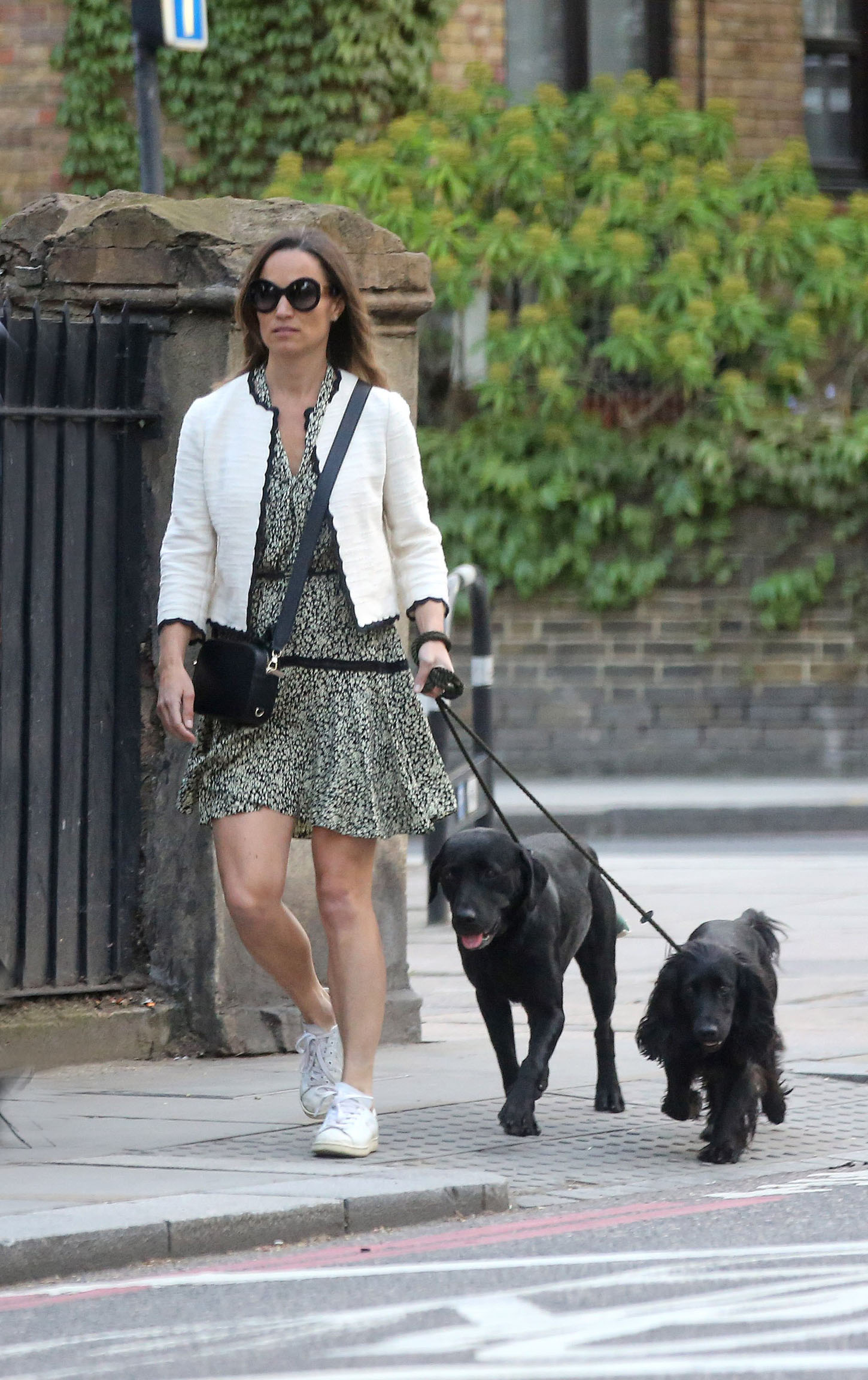EXCLUSIVE: Pippa Middleton spotted walking beloved black Labrador pooch broke tail. 12 May 2018, Image: 371527854, License: Rights-managed, Restrictions: NO Australia, France, Germany, New Zealand, United Kingdom, Model Release: no, Credit line: Profimedia, Mega Agency