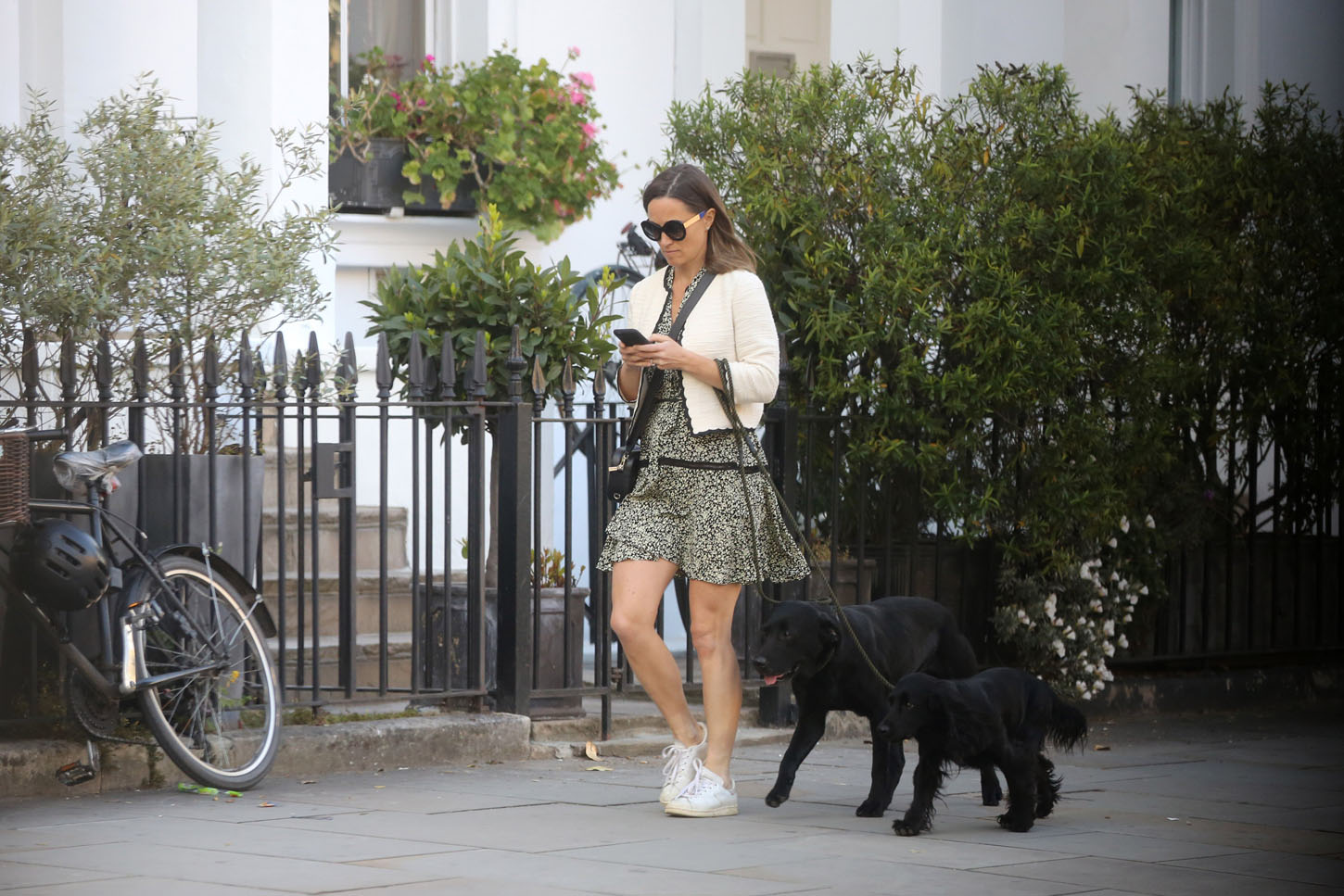 EXCLUSIVE: Pippa Middleton spotted walking beloved black Labrador pooch broke tail. 12 May 2018, Image: 371528397, License: Rights-managed, Restrictions: NO Australia, France, Germany, New Zealand, United Kingdom, Model Release: no, Credit line: Profimedia, Mega Agency