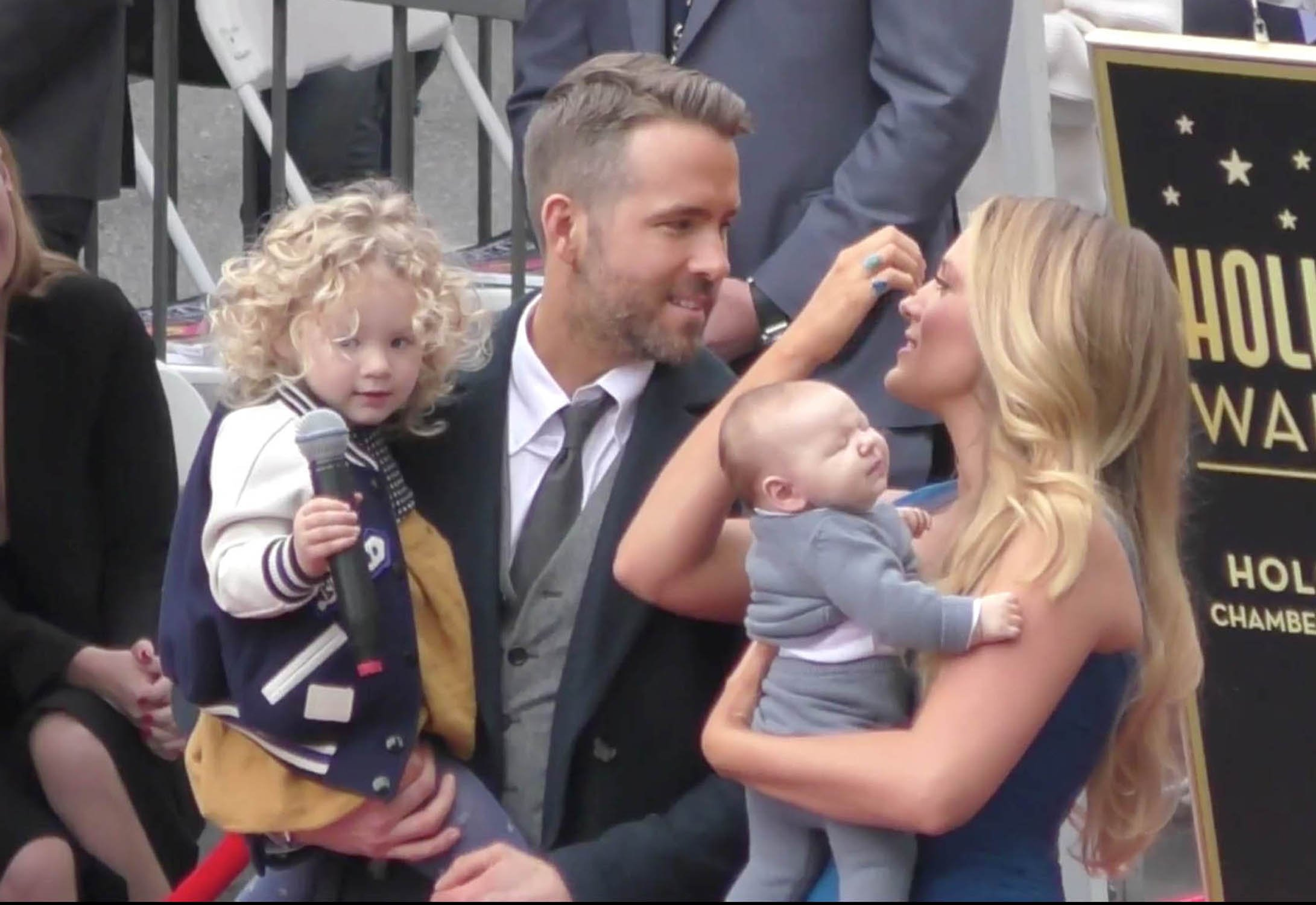 Ryan Reynolds, Blake Lively and their kids at a star ceremony on The Hollywood Walk of Fame in Los Angeles, CA., Image: 308741515, License: Rights-managed, Restrictions: , Model Release: no, Credit line: Profimedia, StarMax