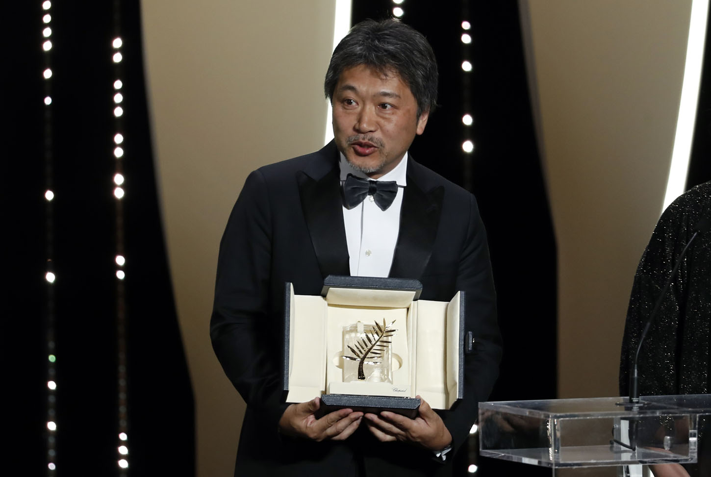71st Cannes Film Festival - Closing ceremony - Cannes, France, May 19, 2018. Director Hirokazu Kore-eda, Palme d'Or award winner for his film