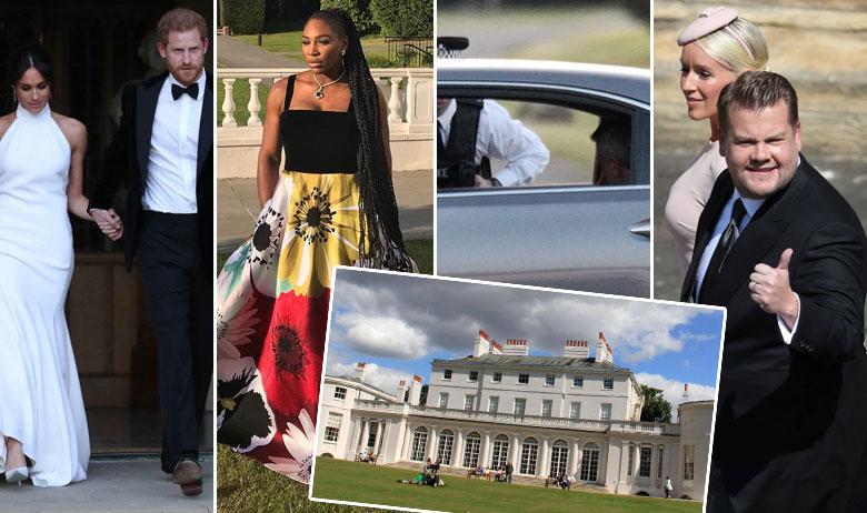 Vojvotkinja i vojvoda od Sussexa, Serena Williams, George Clooney u automobilu, James Corden; u kvadratu
