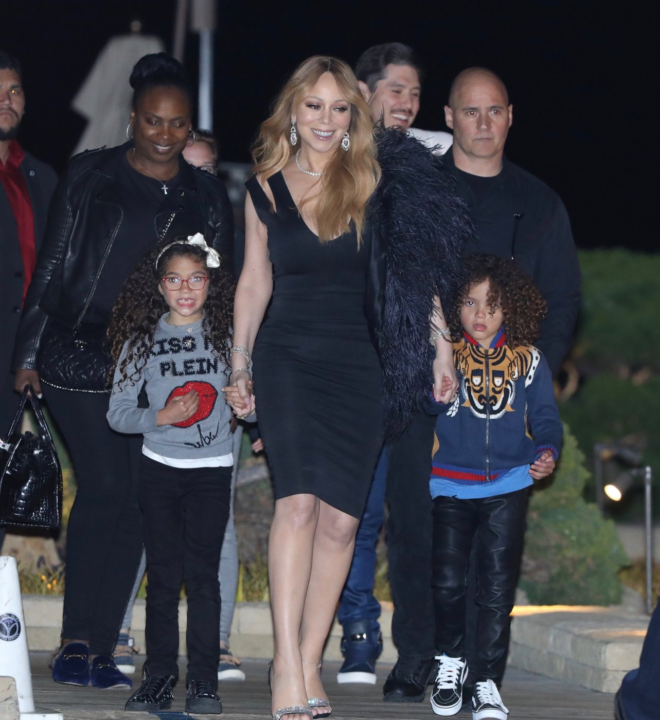 EXCLUSIVE: Mariah Carey and boyfriend on a Mother's Day outing with her children. While Mariah dined at Nobu, her seven-year-old twins, Monroe and Moroccan, preferred to eat at MacDonalds across the street.  ***SPECIAL INSTRUCTIONS*** Please pixelate children's faces before publication.***. 13 May 2018, Image: 371659042, License: Rights-managed, Restrictions: World Rights, Model Release: no, Credit line: Profimedia, Mega Agency
