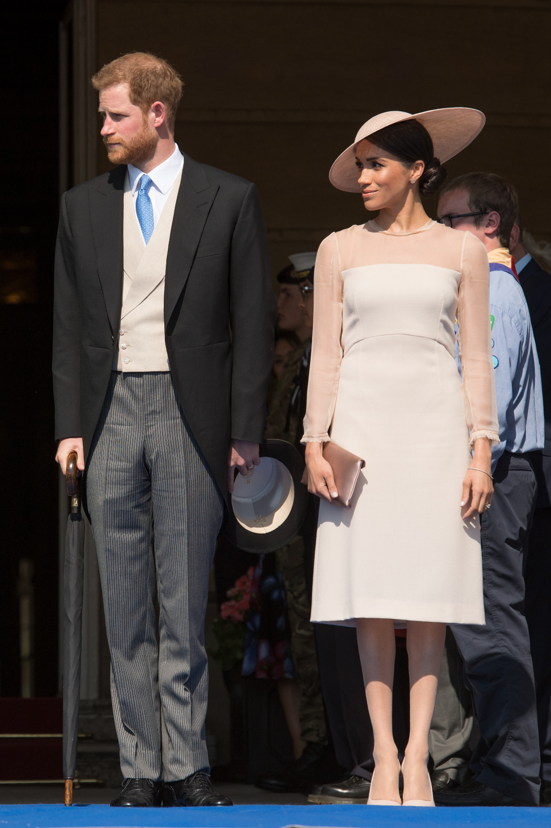 Photo Credit Must Read Zak Hussein<BR/> Prince Harry, the Duke of Sussex and Meghan, the Duchess of Sussex attend The Prince of Wales' 70th Birthday Patronage Celebration at Buckingham Palace <P> Pictured: Prince Harry, the Duke of Sussex and Meghan, The Duchess of Sussex <B>Ref: SPL1701731  220518  </B><BR/> Picture by: Zak Hussein<BR/> </P><P>