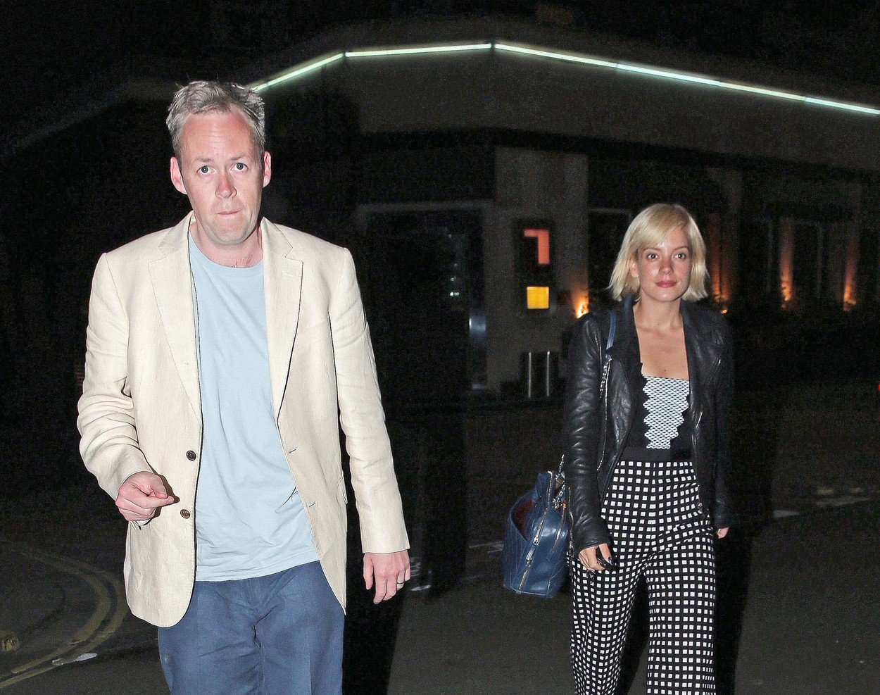 11.JUNE.2015  - LONDON  - UK  *** EXCLUSIVE ALL ROUND PICTURES ***  BRITISH POP STAR LILY ALLEN IS SPOTTED WITH HER HUSBAND SAM COOPER IN WHAT HAS BECOME A RARE OUTING FOR THE COUPLE WITH LILY BEING BASED IN LOS ANGELES OF LATE FOR WORK!, Image: 249284344, License: Rights-managed, Restrictions: EXCLUSIVE ALL ROUND PICTURES -  PLEASE CREDIT AS PER BYLINE *UK CLIENTS - PLEASE PIXELATE CHILDS FACE BEFORE PUBLICATION***UK CLIENTS MUST CALL PRIOR TO TV OR ONLINE USAGE PLEASE CALL 0208 344 2007, Model Release: no, Credit line: Profimedia, Xposurephotos