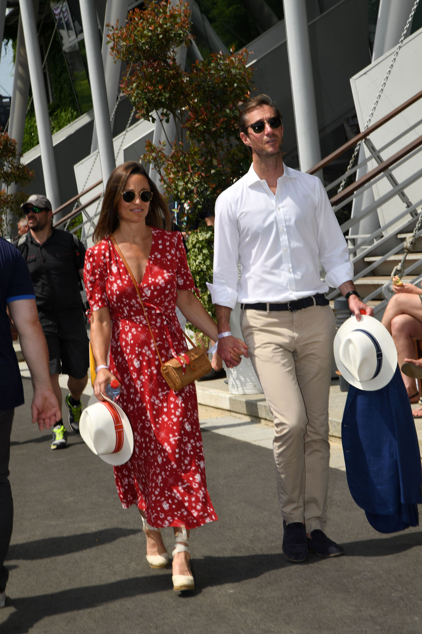 Pippa Middleton and husband James Matthews attend Day One of the 2018 French Open at Roland Garros stadium on May 26, 2018 in Paris, France <P> Pictured: Pippa Middleton and James Matthews <B>Ref: SPL1703115  270518  </B><BR/> Picture by: Allpix / Splash News<BR/> </P><P> <B>Splash News and Pictures</B><BR/> Los Angeles:310-821-2666<BR/> New York:212-619-2666<BR/> London:870-934-2666<BR/> <span id=