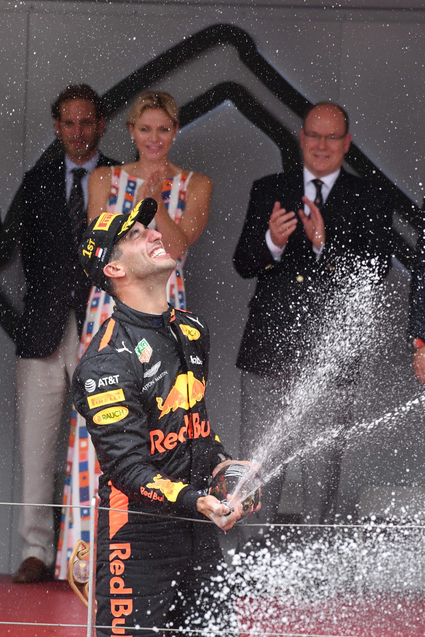Alberto di Monaco and Charlene Wittstock celebrates Daniel Ricciardo <P> Pictured: Alberto di Monaco, Charlene Wittstock <B>Ref: SPL1703330  270518  </B><BR/> Picture by: Mama / Splash News<BR/> </P><P> <B>Splash News and Pictures</B><BR/> Los Angeles:310-821-2666<BR/> New York:212-619-2666<BR/> London:870-934-2666<BR/> <span id=