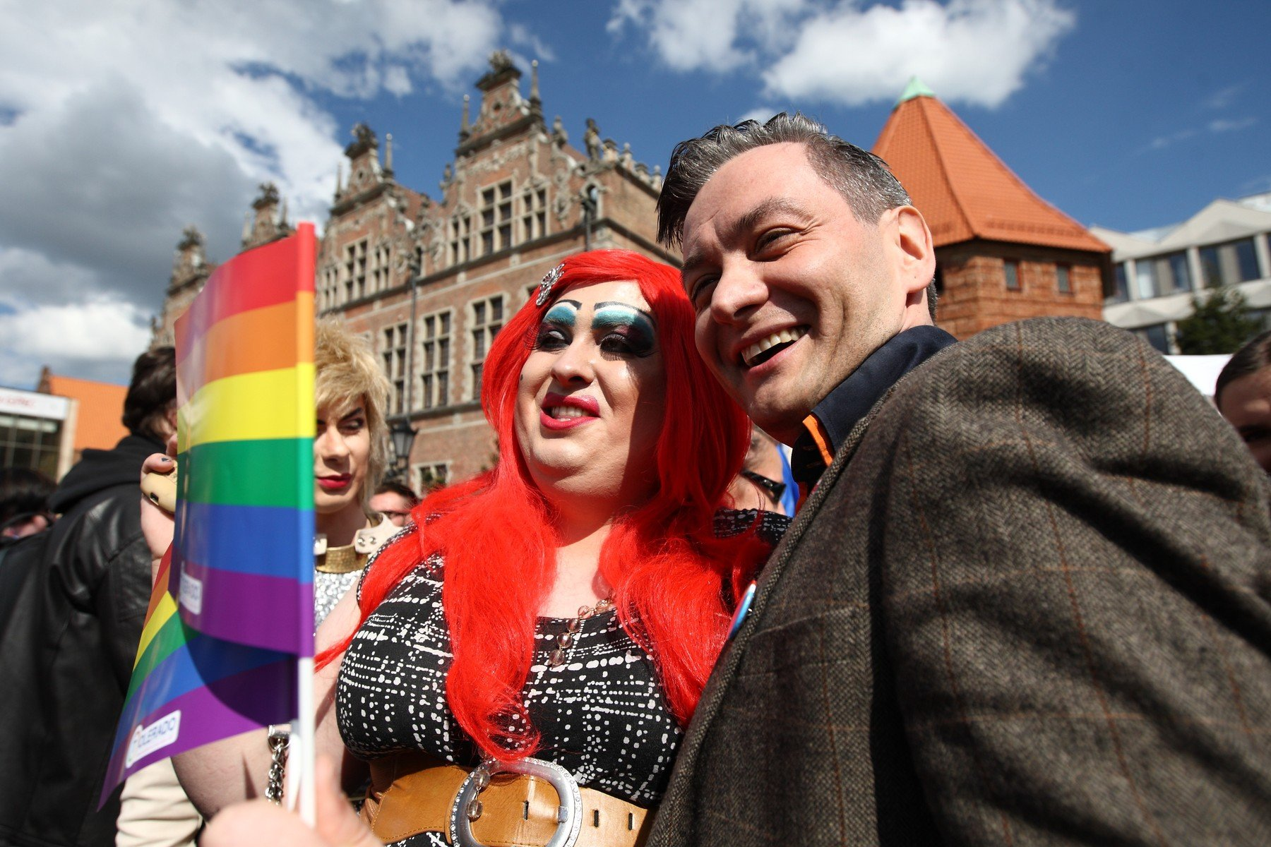 May 30, 2015 - Gdansk, POLAND - Gdansk , Poland 30th, May 2015 First Equality March in 3city organised by LGBT activists held in Gdansk. Participants walked by the city with rainbow flags, and equality slogans. Robert Biedron Mayor of Slupsk and first openly declared gay Polish Parliament member takes part in the march, Image: 246860995, License: Rights-managed, Restrictions: * France Rights OUT *, Model Release: no, Credit line: Profimedia, Zuma Press - News