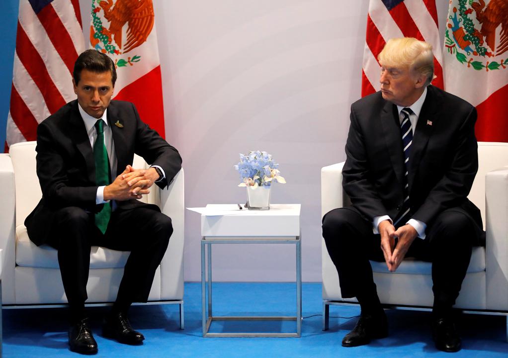 Donald Trump i Enrique Pena Nieto