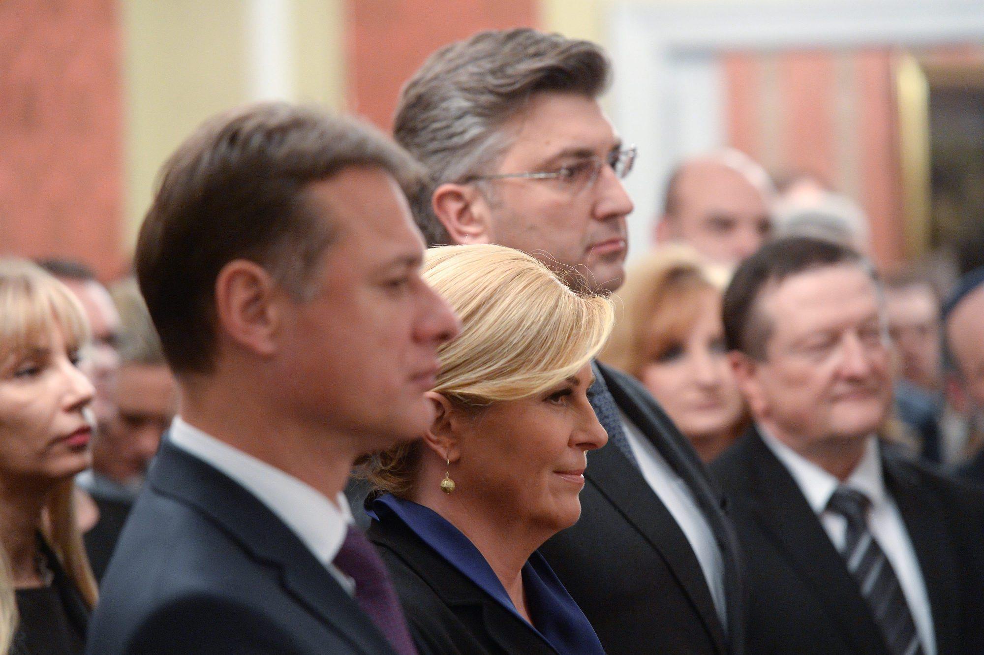 Gordan Jandroković, Kolinda Grabar Kitarović i Andrej Plenković