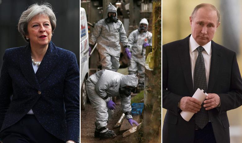 Theresa May, istražitelji u Salisburyju, Vladimir Putin